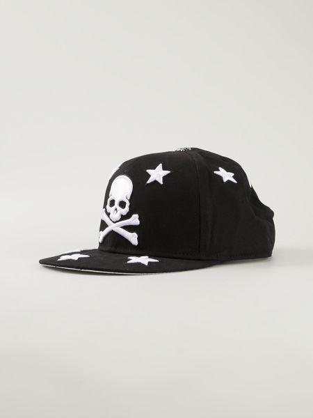 philipp plein skull and crossbones baseball cap in black for men lyst. Black Bedroom Furniture Sets. Home Design Ideas