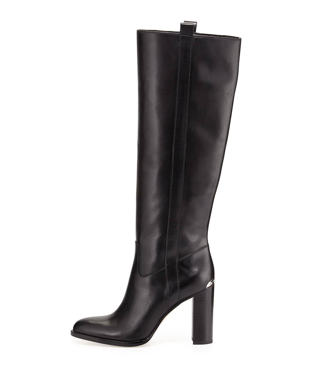 237f0dfb1fb7 MICHAEL Michael Kors Shaw Vachetta Leather Boots in Black - Lyst