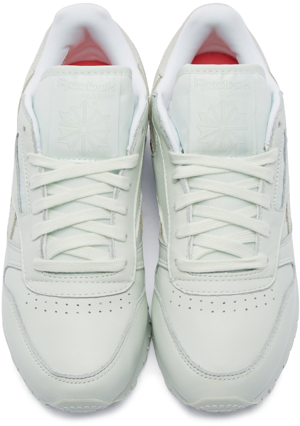 ccafa17f7484b Lyst - Reebok Green Leather Spirit Face Stockholm Edition Sneakers ...