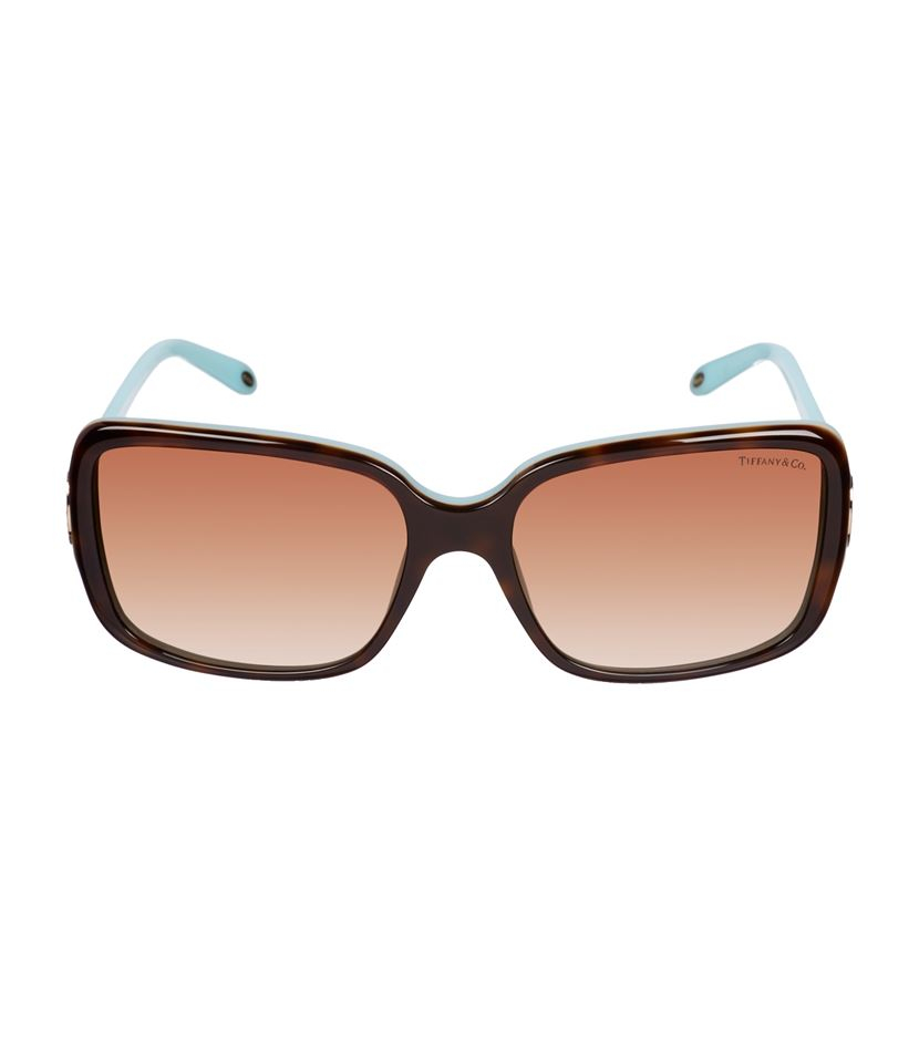 bc005257f2f9 Tiffany   Co. Crystal Key Square Sunglasses in Brown - Lyst