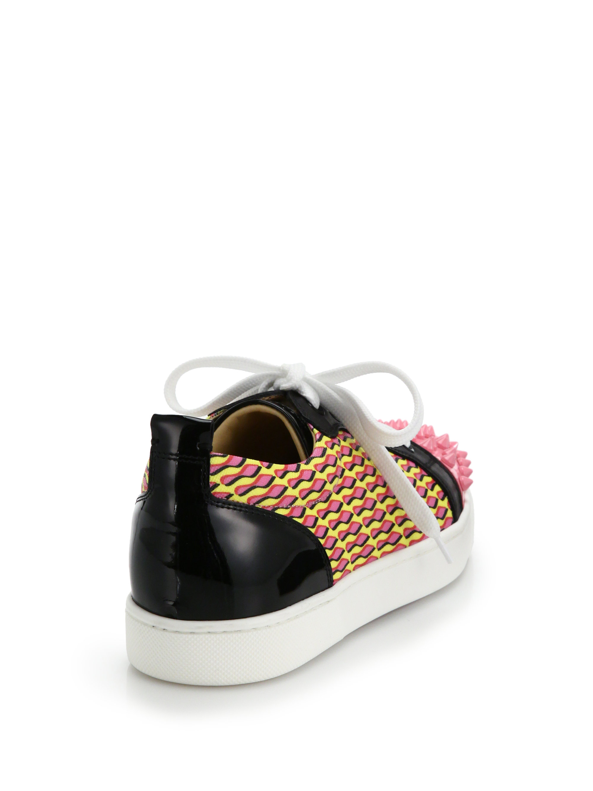 replica christian louboutin shoes - Christian louboutin Louis Jr Studded Leather & Printed Canvas ...