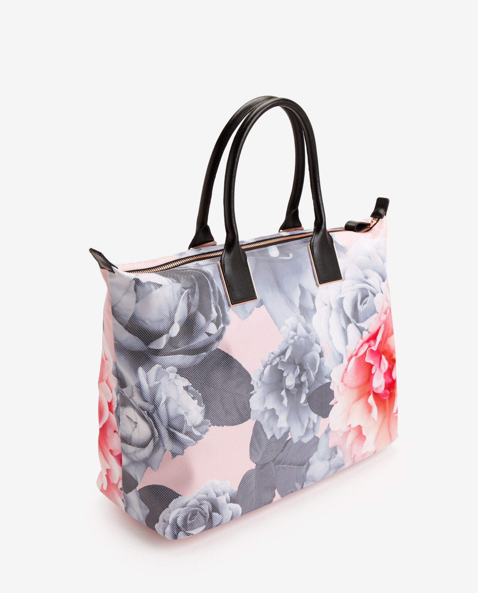 212081a2d6c Ted Baker Monorose Print Tote Bag in Natural - Lyst
