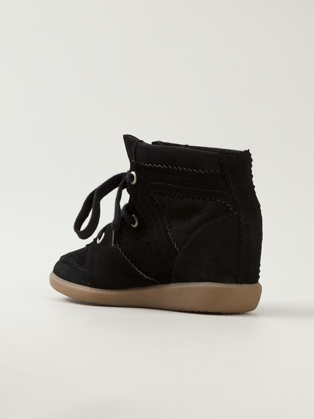 isabel marant toile 39 bobby 39 sneakers in black lyst. Black Bedroom Furniture Sets. Home Design Ideas