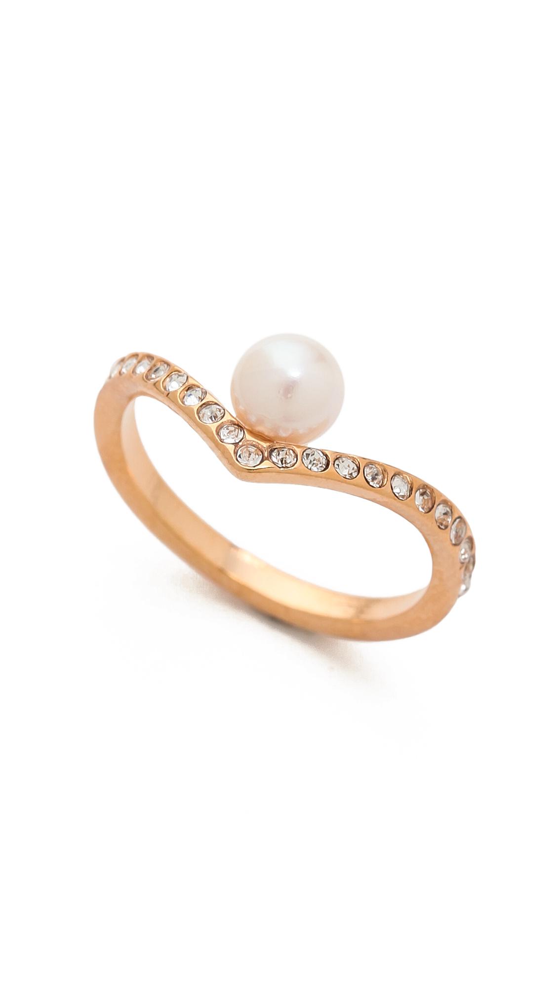Asos Crystal Ring Pink