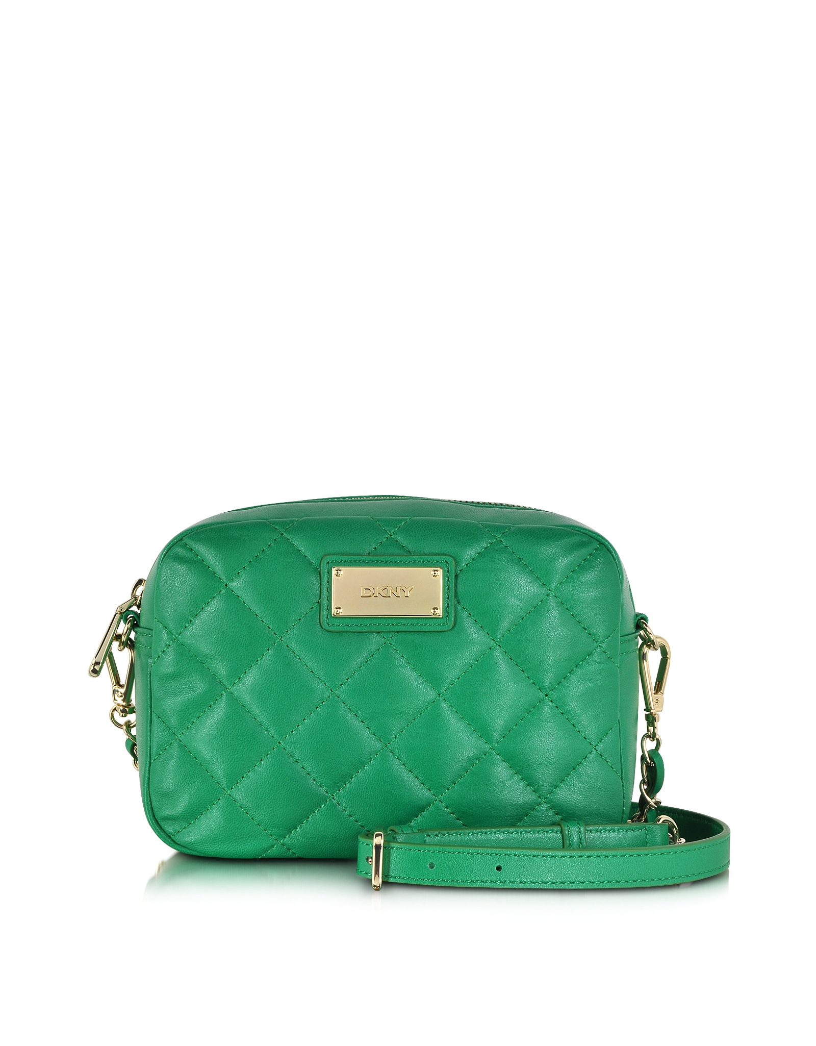 Dkny Gansevoort Quilted Leather Chain Camera Bag in Green | Lyst