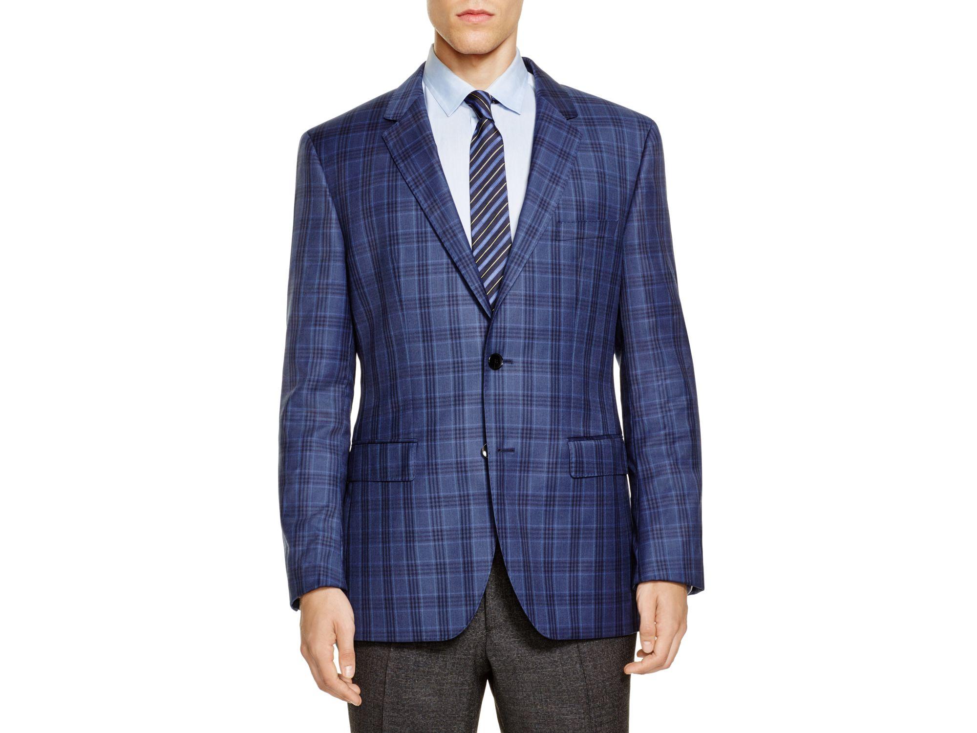 f5da0cf3b177 Lyst - BOSS Boss Plaid James Regular Fit Sport Coat in Blue for Men