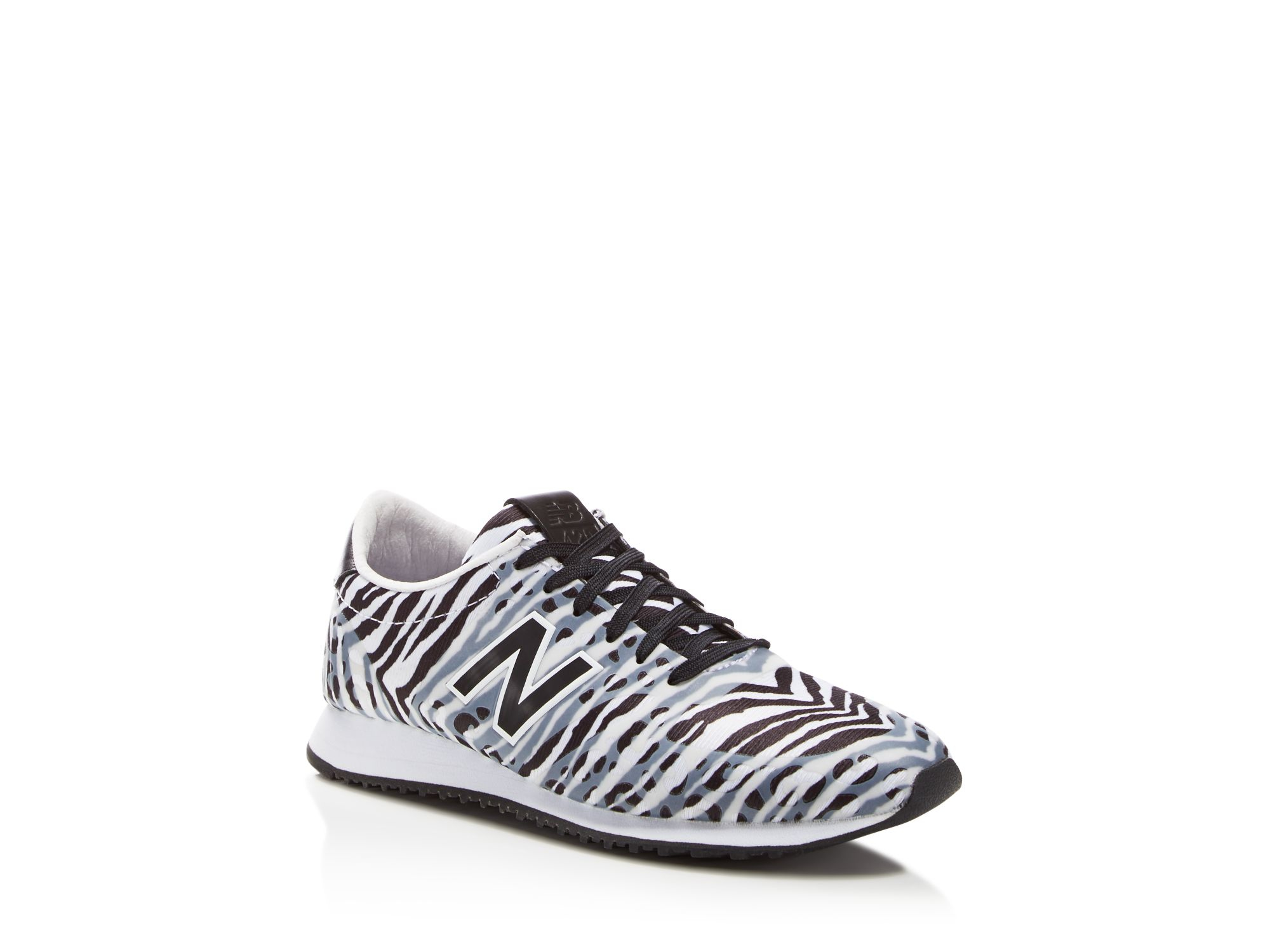 new balance 420 zebra print mesh low top sneakers lyst. Black Bedroom Furniture Sets. Home Design Ideas