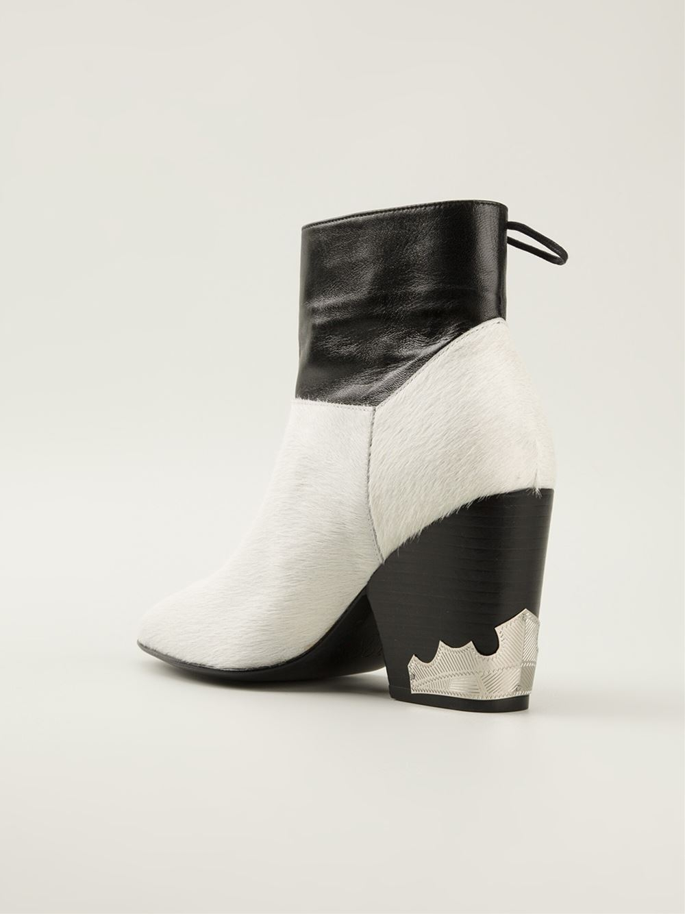 Toga Monochrome Ankle Boots in Black
