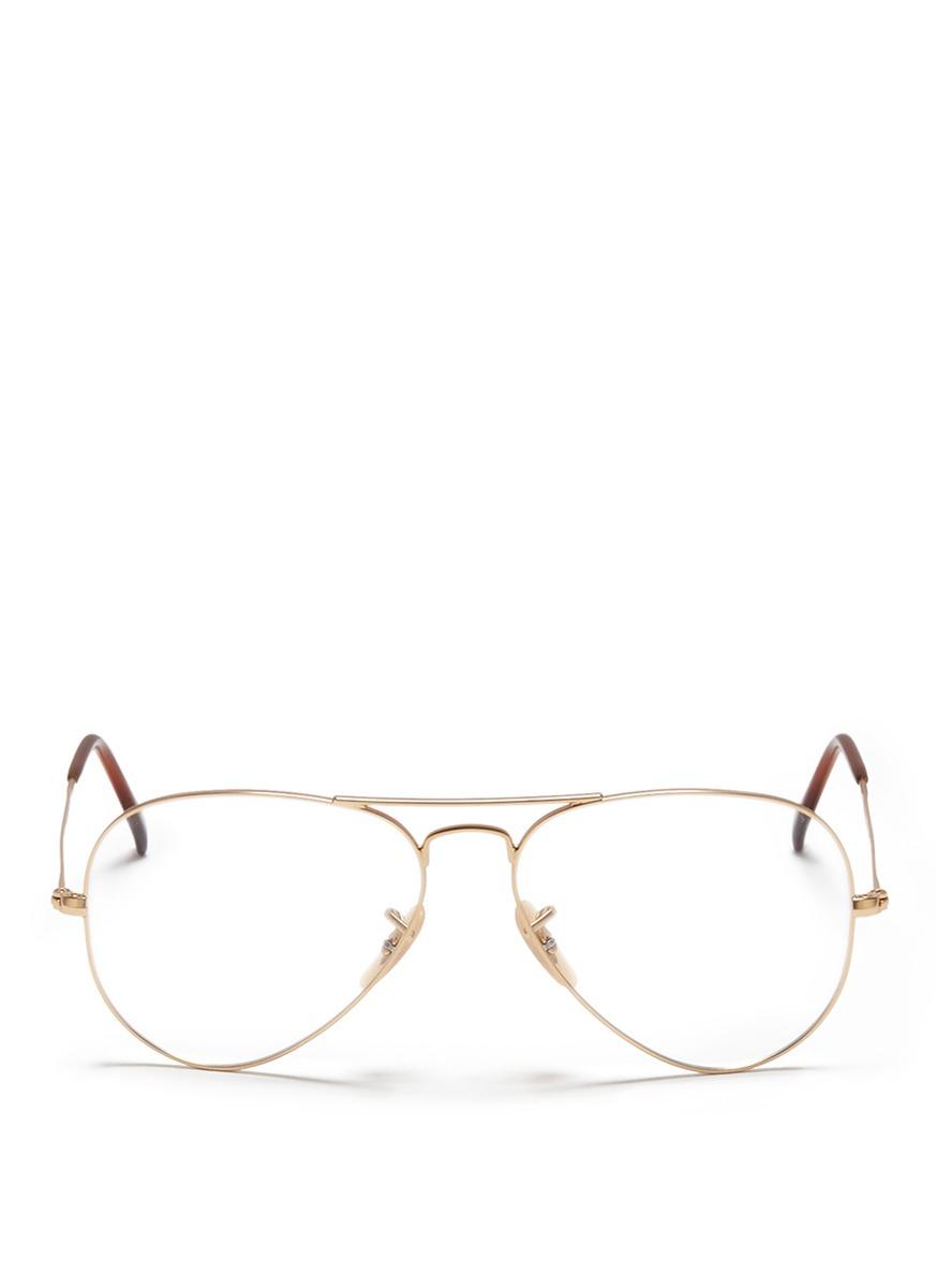 Ray Ban White Glasses