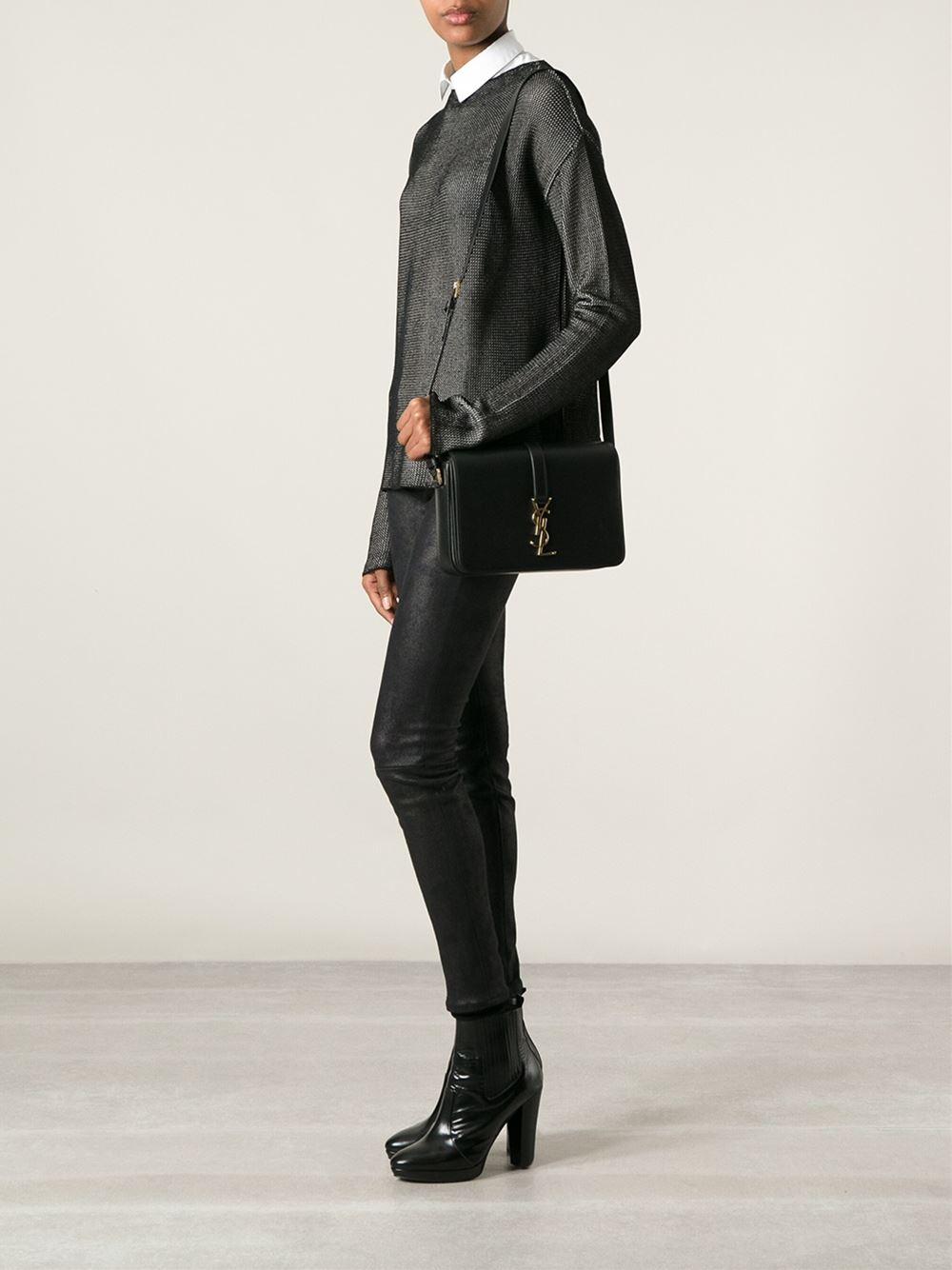 022750040a0 Saint laurent Universit   Shoulder Bag in Black | Lyst