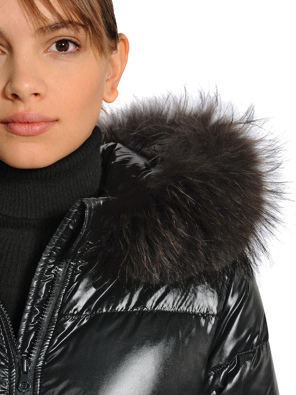 Duvetica Alia Shiny Nylon & Murmansky Down Jacket in Black ...