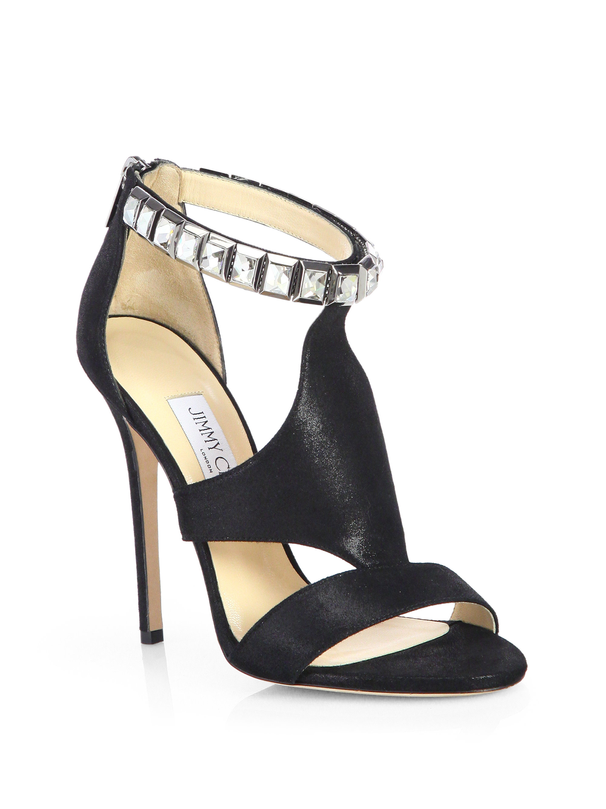 Jimmy Choo Embossed Ankle Strap Sandals collections sale online best for sale Manchester sale online 4A7r19BJp