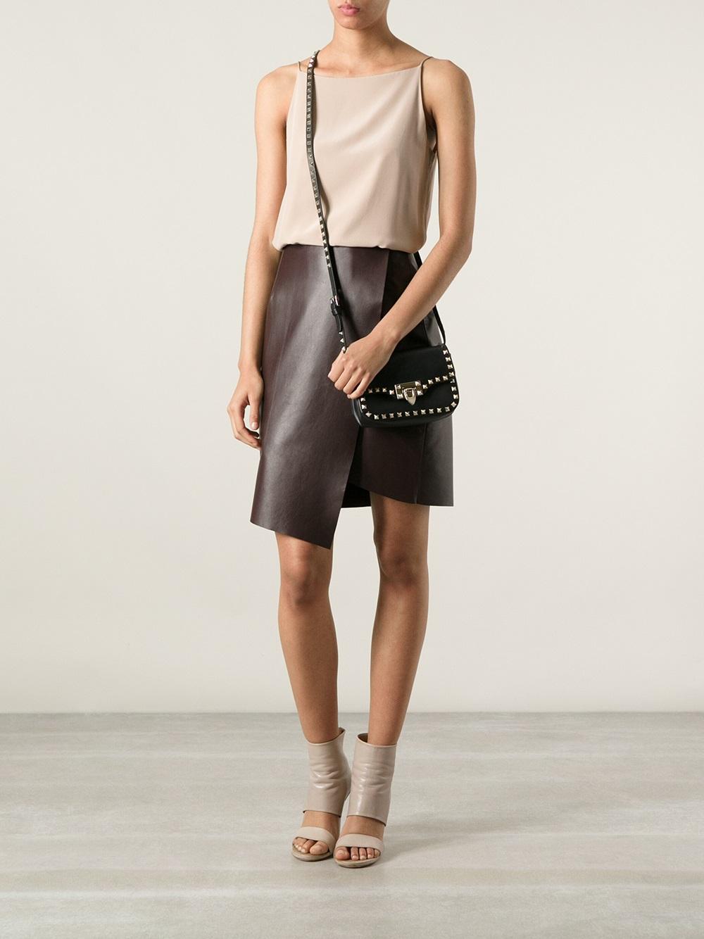 Valentino Rockstud Cross Body Bag In Black Lyst