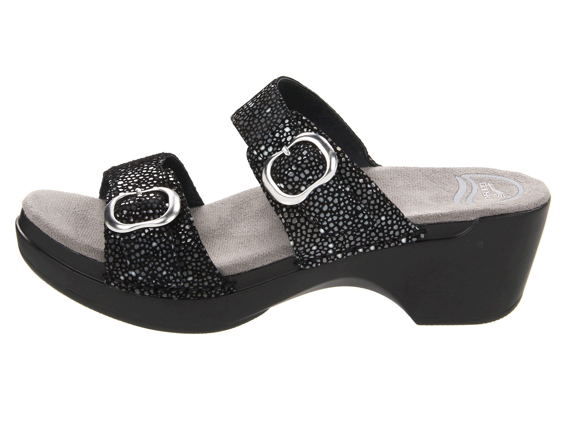 Dansko Sophie Stained Glass Sandals In Black Lyst