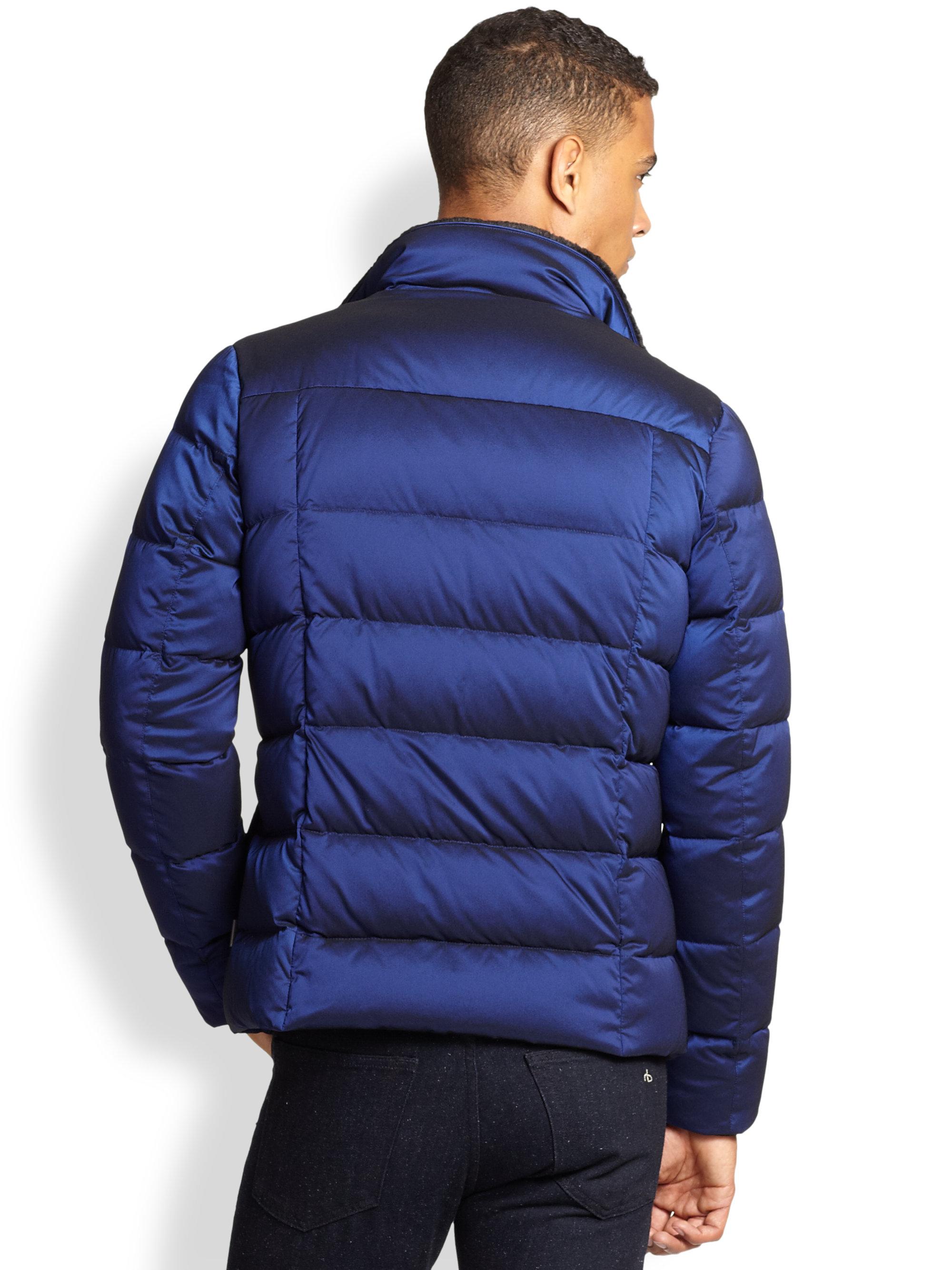 5ec3535aa7 Armani Blue Puffer Jacket for men