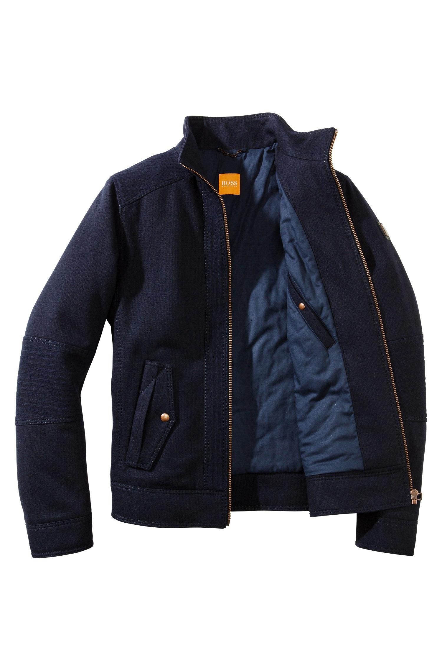 lyst boss orange jacket 39 onzoom 39 in a wool blend in blue. Black Bedroom Furniture Sets. Home Design Ideas