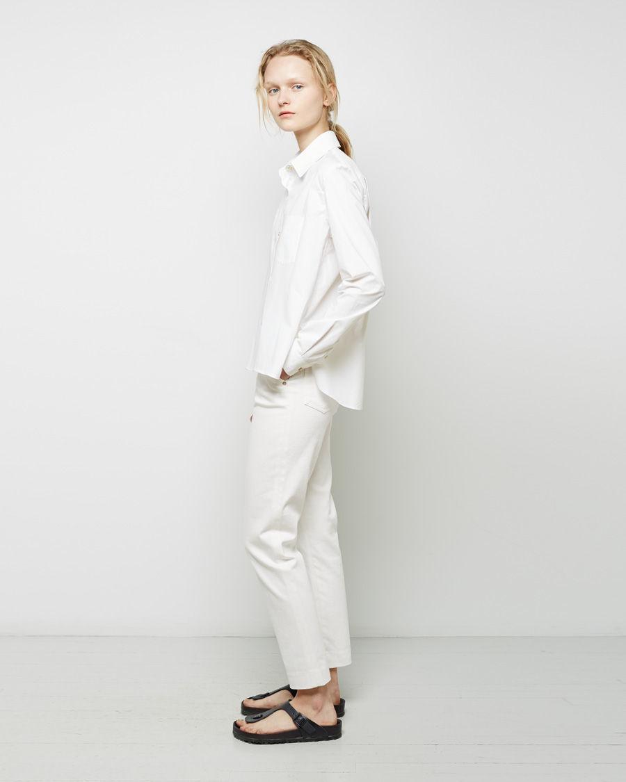 Lyst Birkenstock Black Leather Gizeh Sandal In White