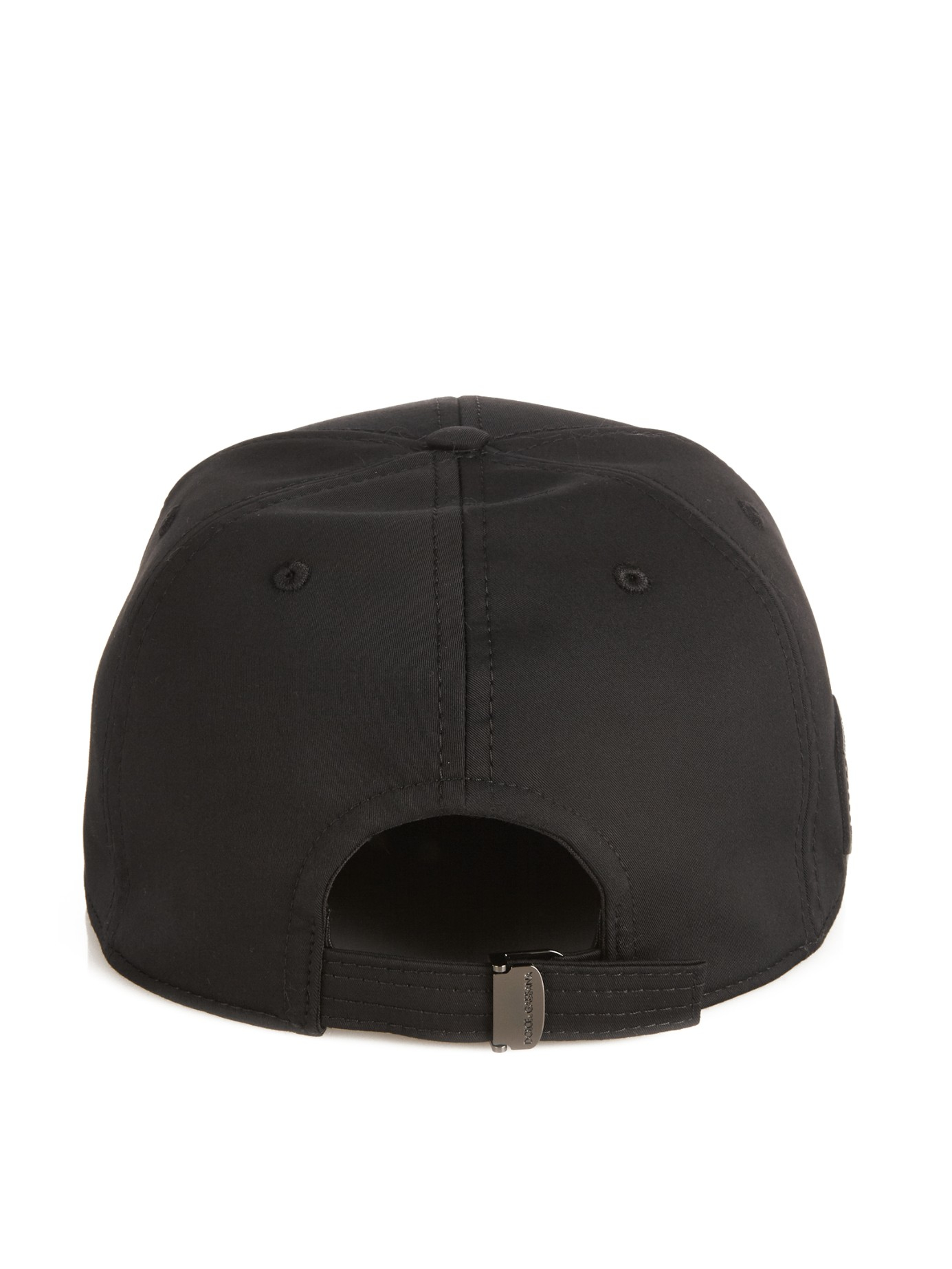 Lyst - Dolce   Gabbana Logo-plaque Baseball Hat in Black for Men 3b6a7c2ff6e