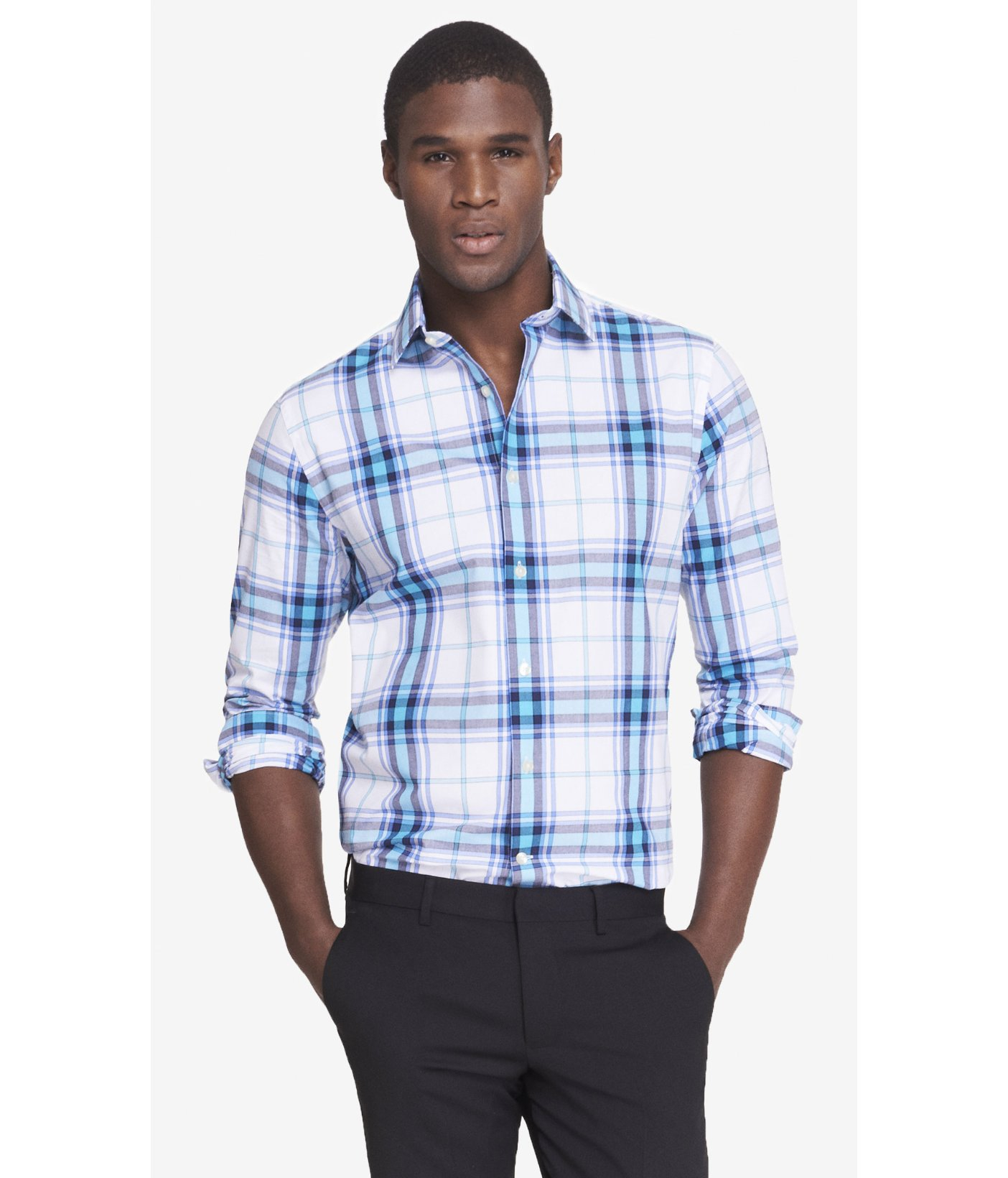 Choosing the right pattern for men's big and tall dress shirts While there are many things to consider when picking out a dress shirt, the pattern is one of the most important. While searching, you'll encounter plain, striped, and checkered dress shirt options.