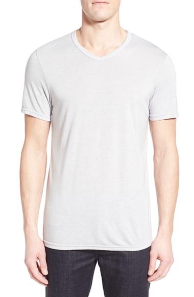 Michael stars v neck t shirt in gray for men lyst for Michael stars tee shirts
