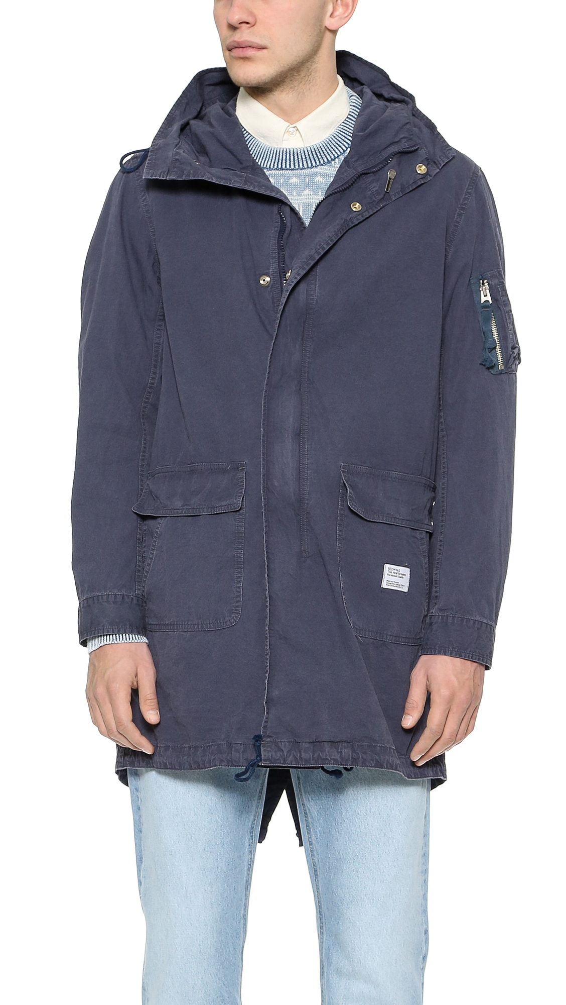 Bedwin and the heartbreakers Chase M-51 Military Parka in Blue for ...
