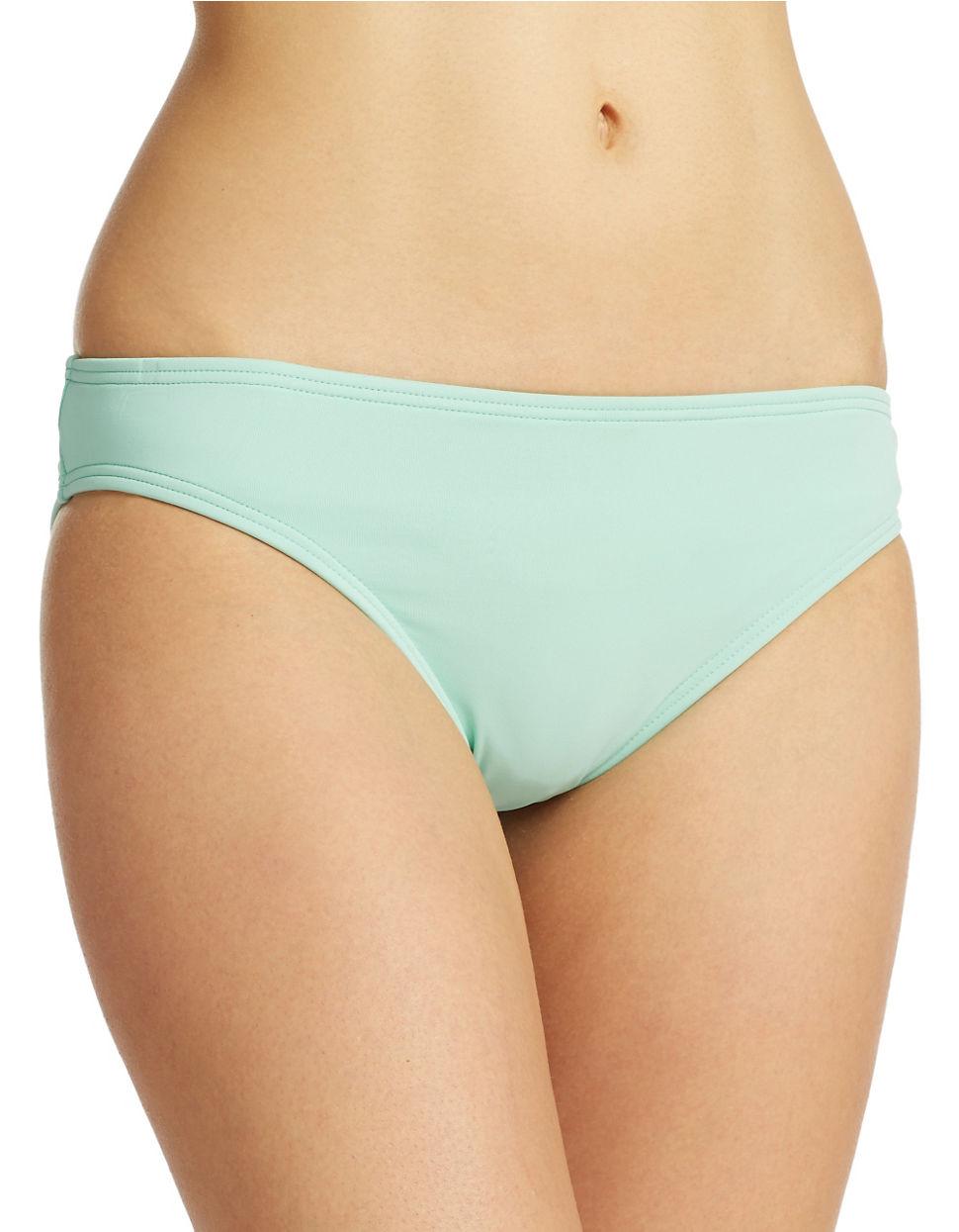 Ivanka trump Solid Hipster Bikini Bottoms in Green | Lyst