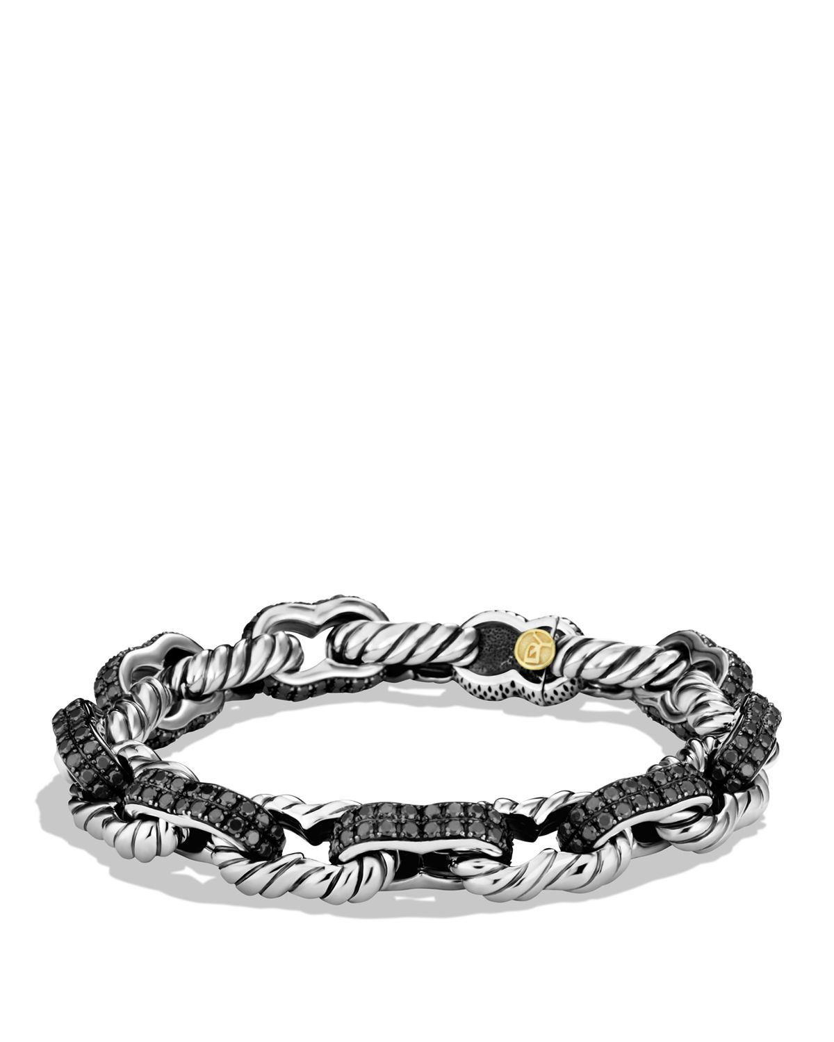 Blackened Sterling Silver Chain Bracelet David Yurman bdPS1X