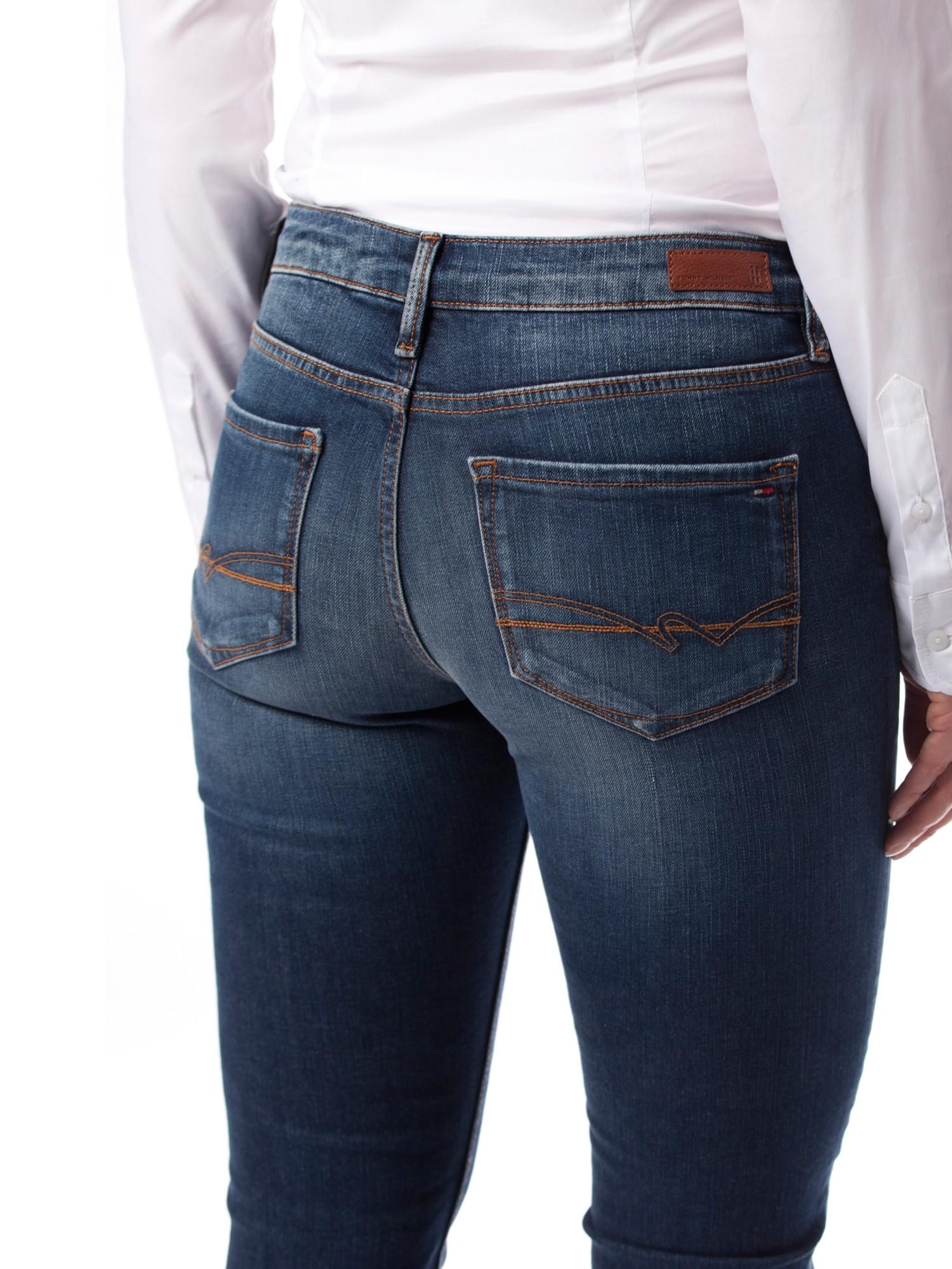 tommy hilfiger rome slim fit jeans in blue lyst. Black Bedroom Furniture Sets. Home Design Ideas