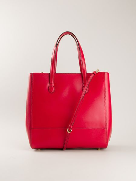 moschino rossella shopper tote in red lyst. Black Bedroom Furniture Sets. Home Design Ideas
