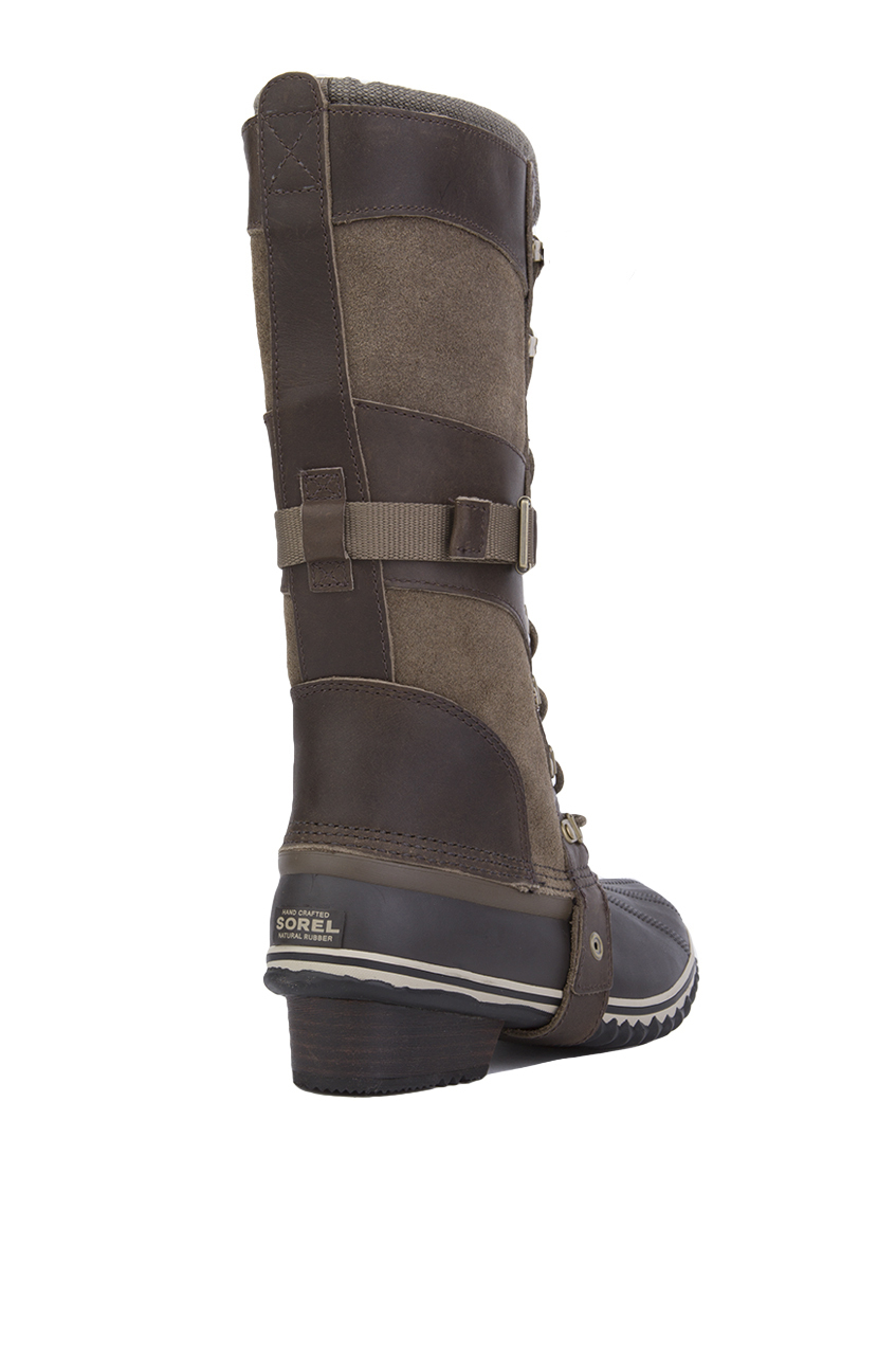 Sorel Women S Conquest Carly Waterproof Boots In Green Lyst