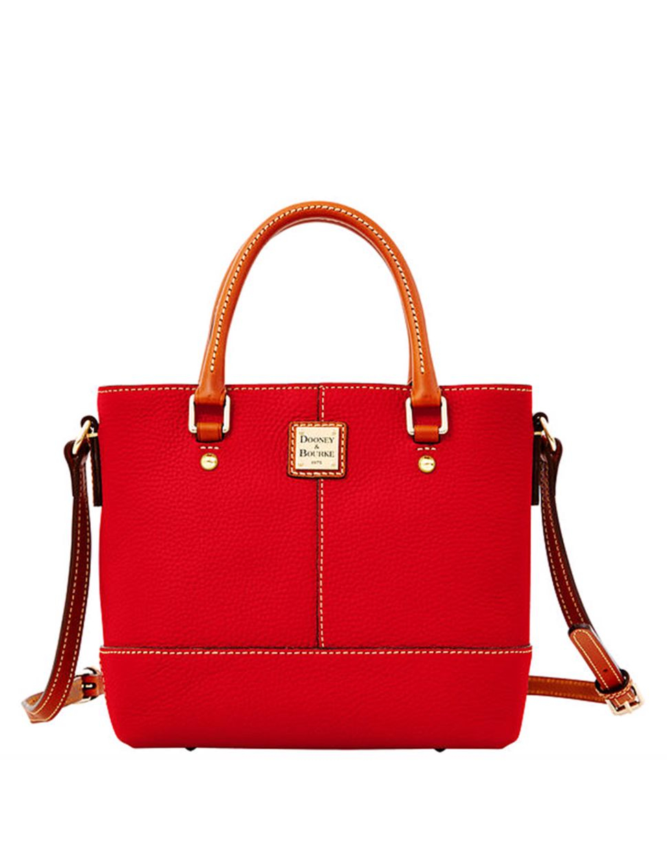dooney bourke mini chelsea pebbled leather tote bag in