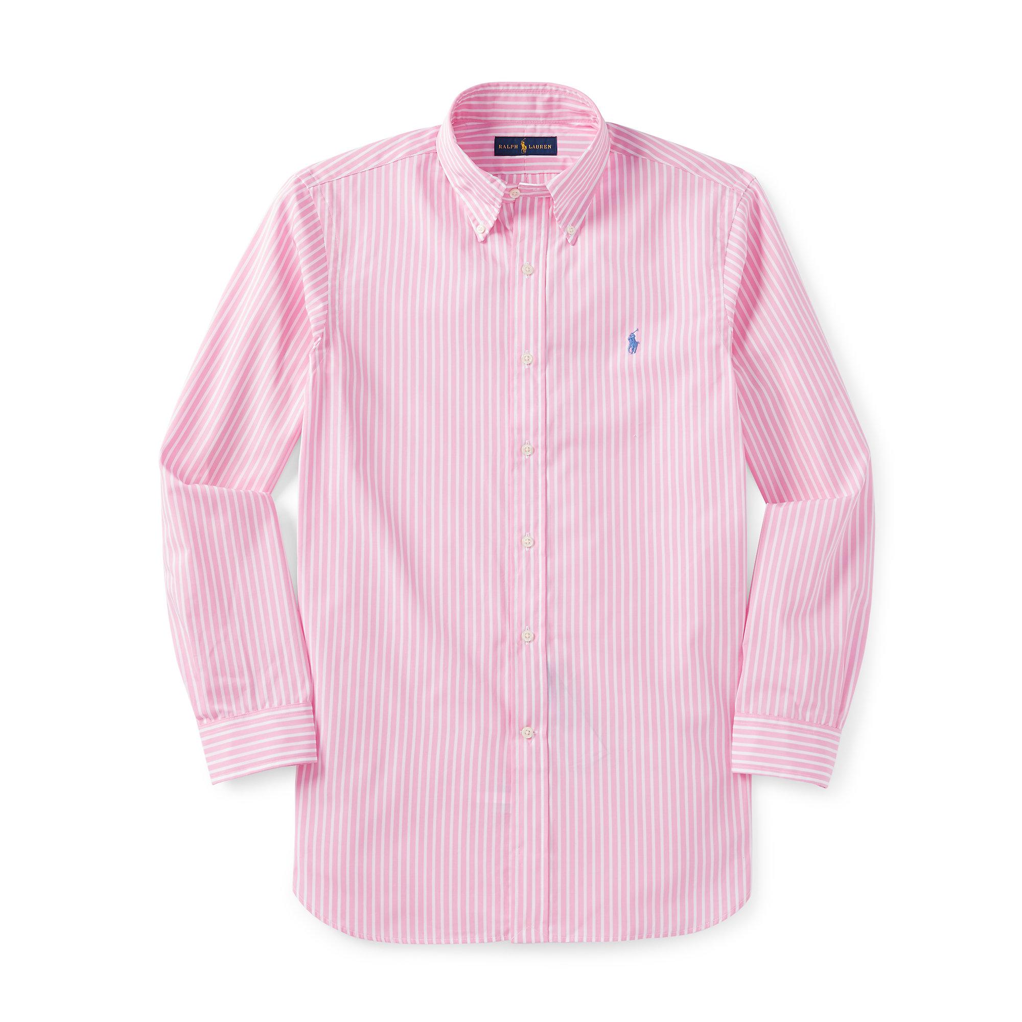 26683583 Polo Ralph Lauren White Slim-fit Striped Poplin Shirt for men