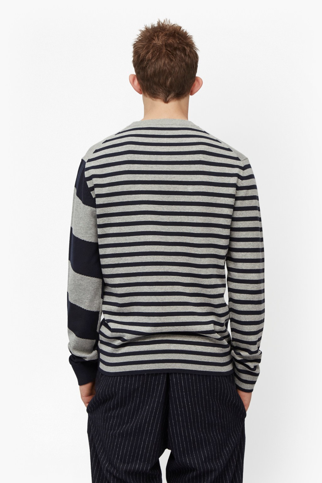French connection Diagonal Stripe Jumper in Gray for Men ...