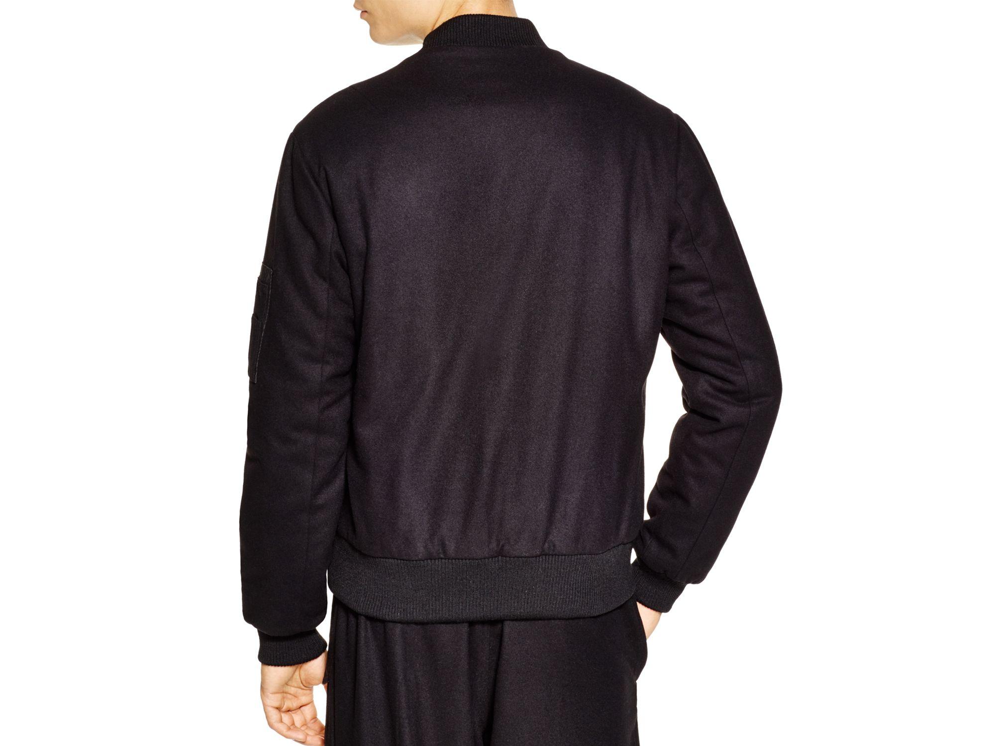 Y-3 Wool Flight Jacket in Black for Men | Lyst