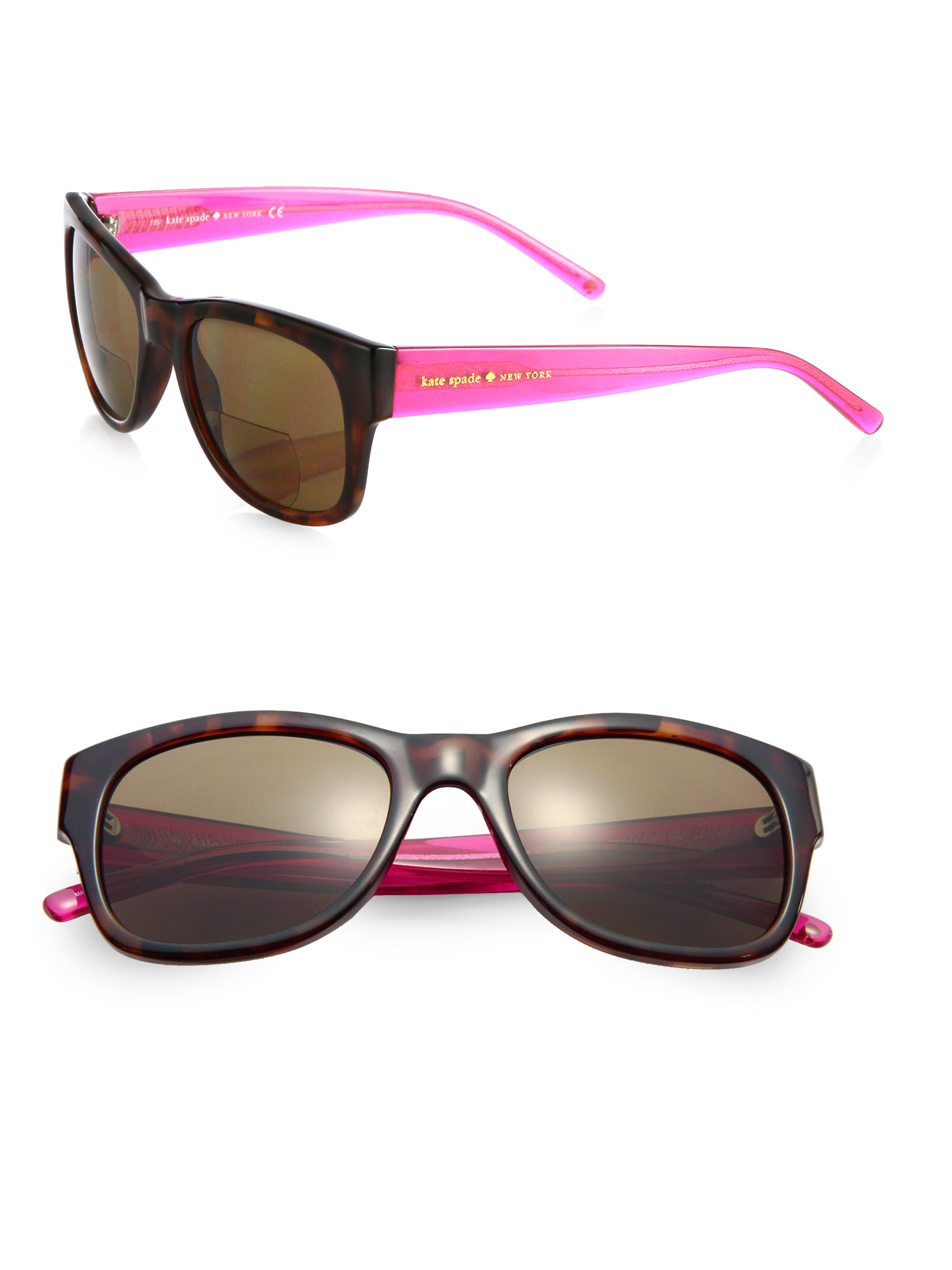 Tortoise Print Sunglasses  kate spade new york adanns tortoise print rectangular sunglasses
