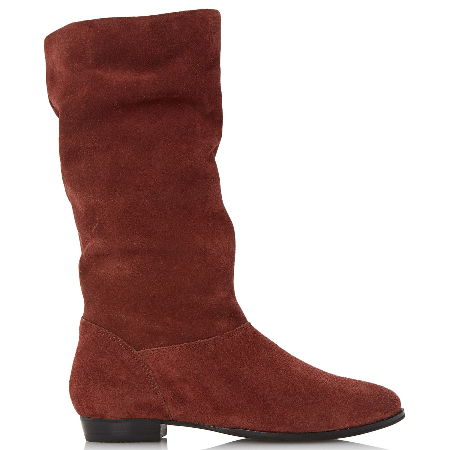 e78aec07f Dune Relissa Suede Slouch Calf Boot in Brown - Lyst