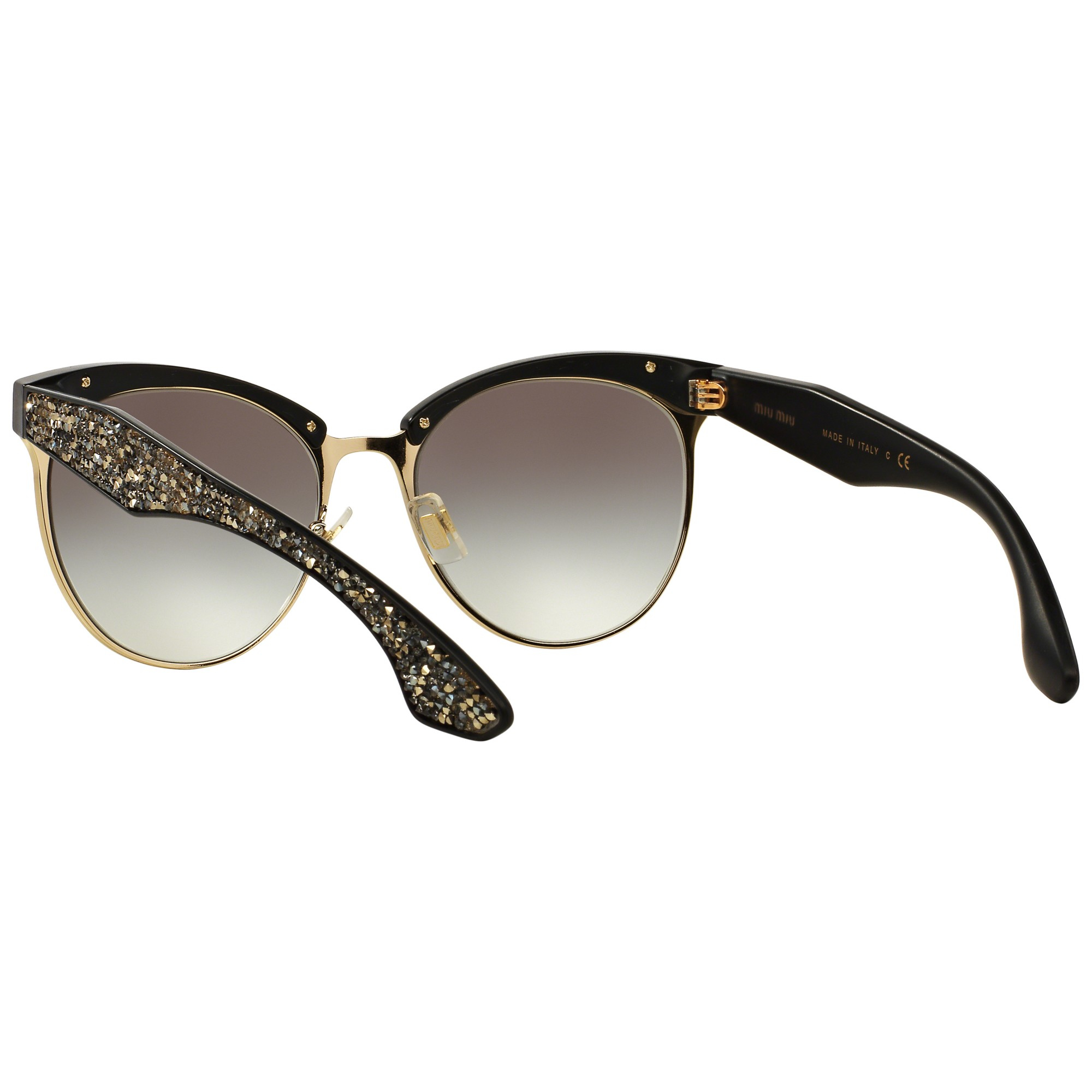 4c2f3ba801ae Miu Miu Mu54qs Stardust Bead Encrusted Sunglasses in Black - Lyst