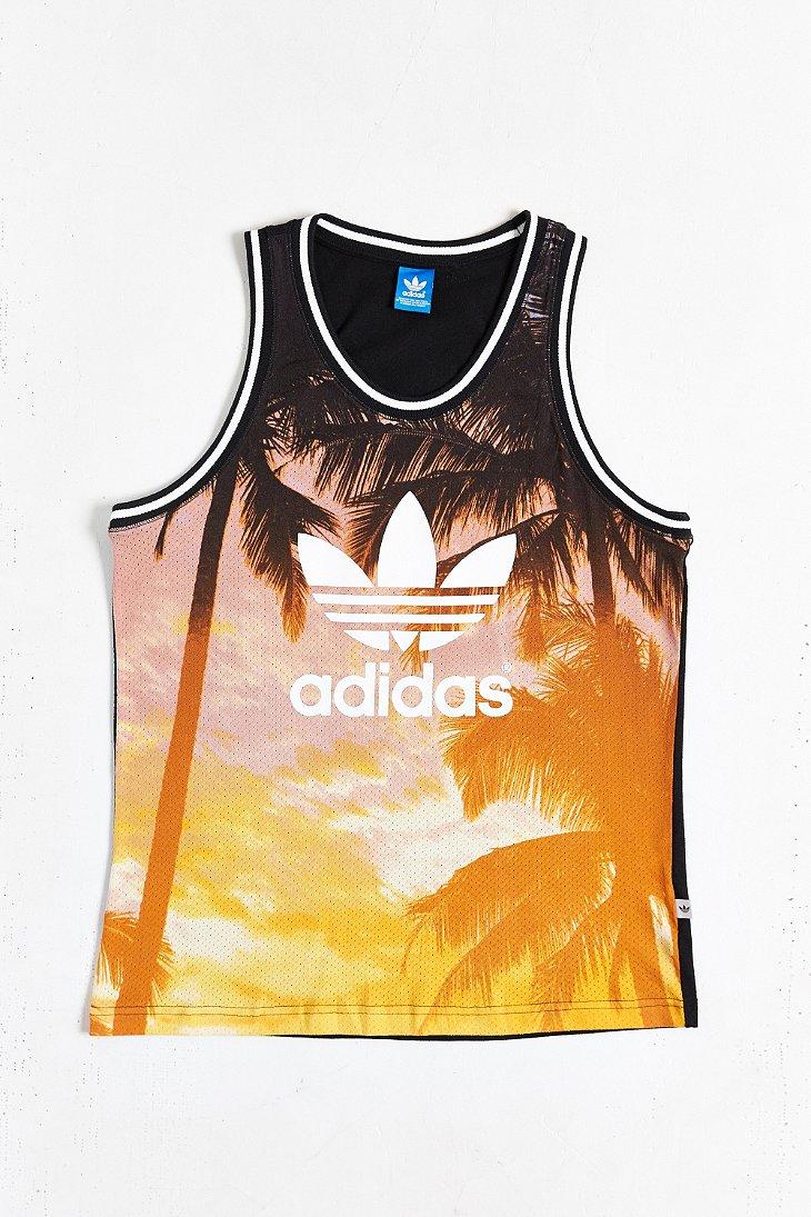 Lyst Adidas Originals Palm Print Mesh Tank Top For Men