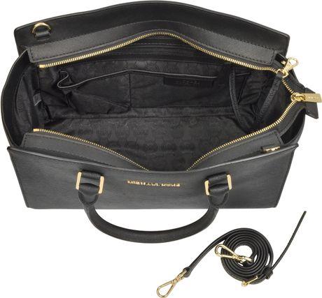 Get Michael Kors Selma Satchels - Bags Michael Kors Large Selma Top Zip Saffiano Leather Satchel Gold