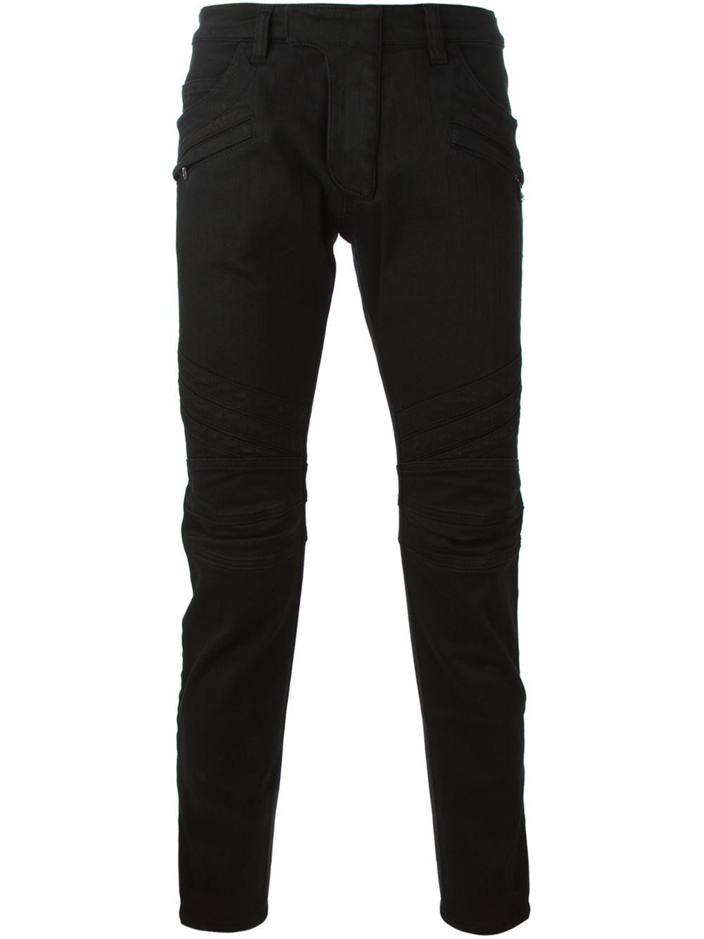 Men Black Coated Jeans