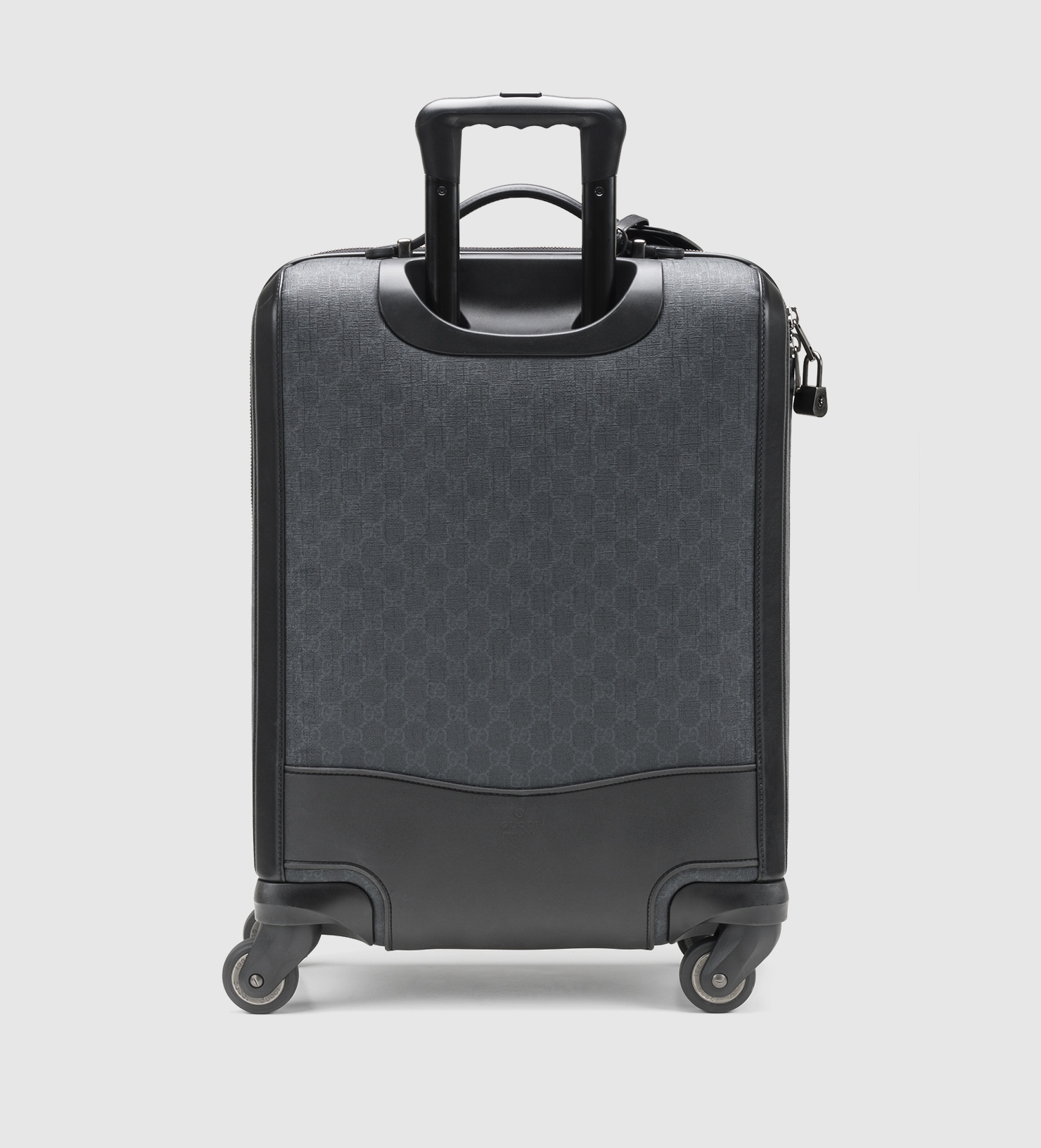 19e5b86eaaf Lyst - Gucci Gg Supreme Canvas Wheeled Carry-on Suitcase in Black ...
