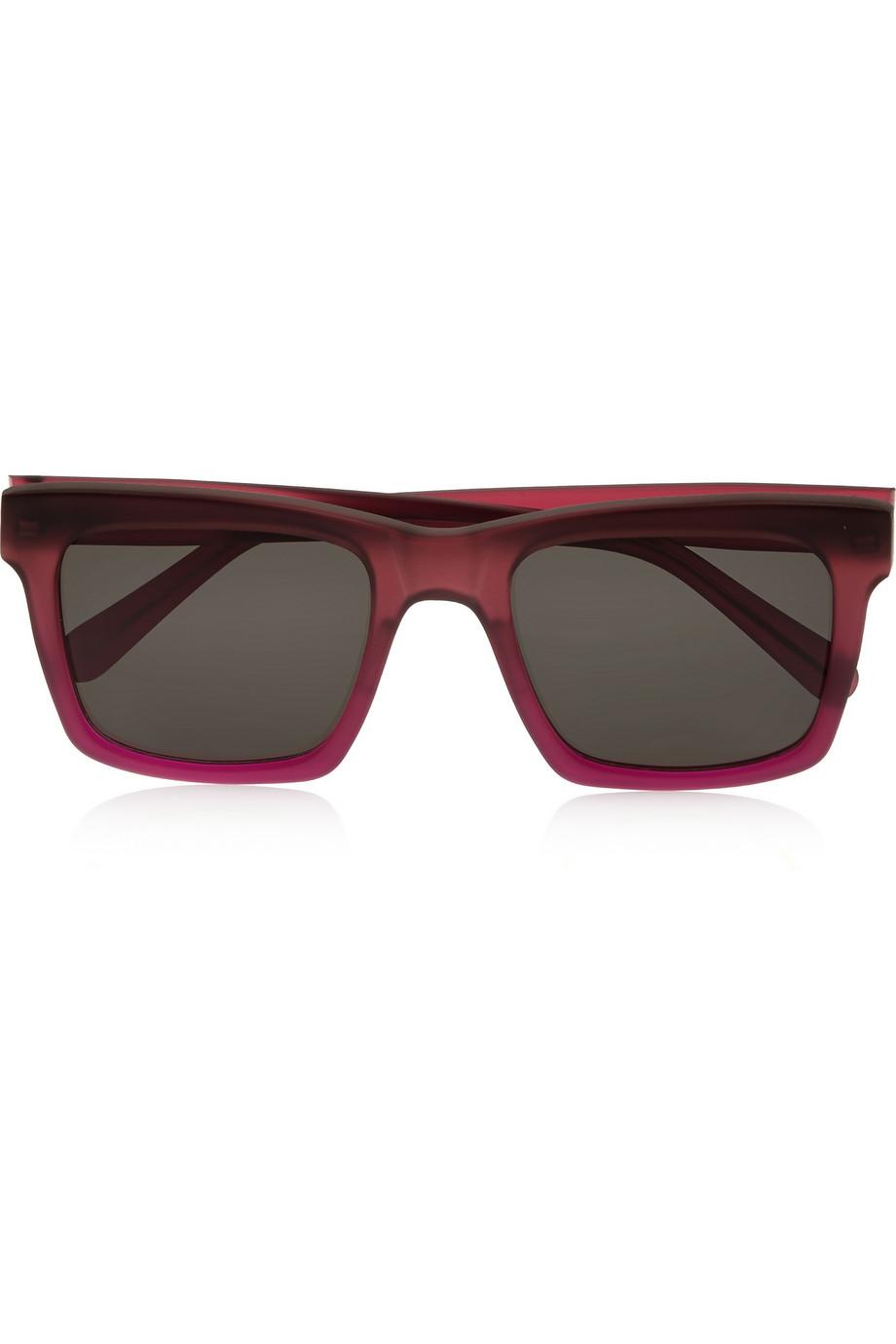 Prism Milan Square-Frame Acetate Sunglasses in Purple