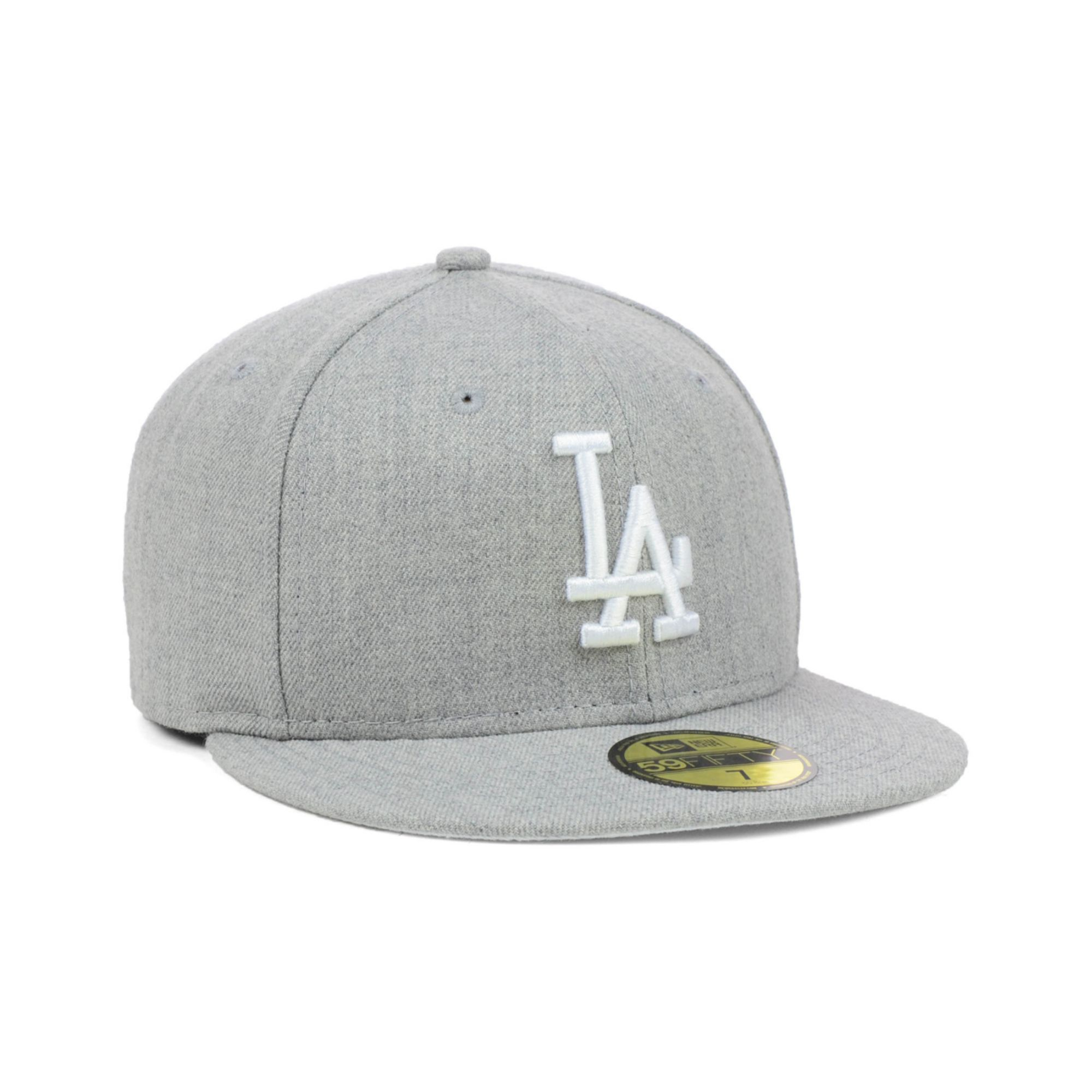 official photos 0073e 8a0f0 KTZ Los Angeles Dodgers Mlb Heather Basic 59fifty Cap in Gray for ...