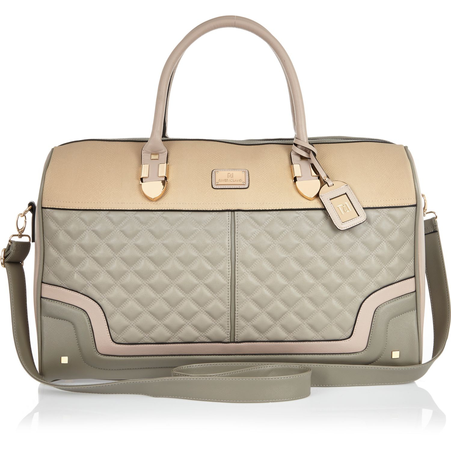 River Island Grey Quilted Bag
