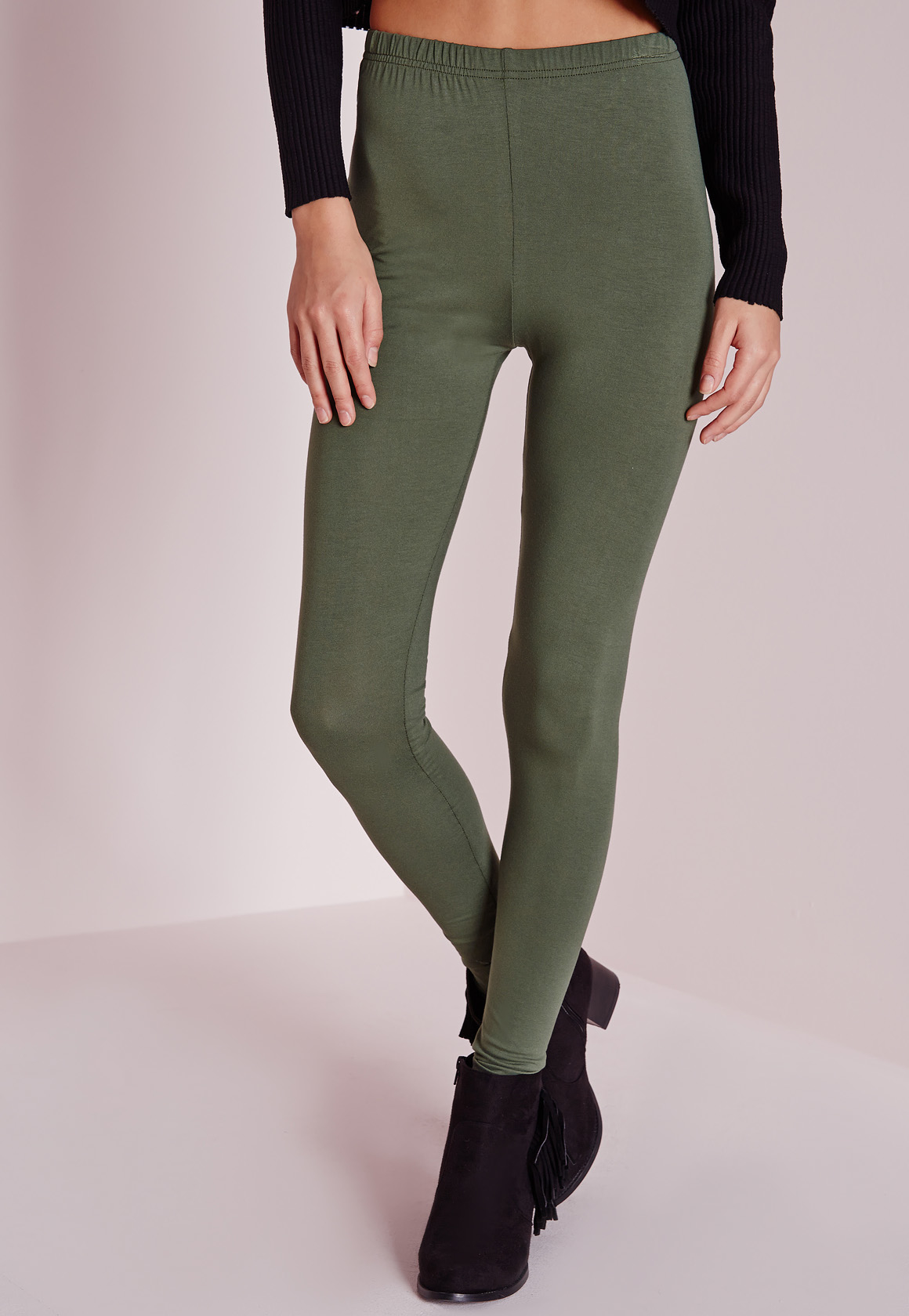 Missguided Basic Leggings Khaki in Natural