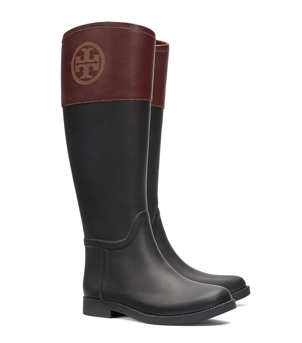 Tory burch Classic Rainboot in Black | Lyst