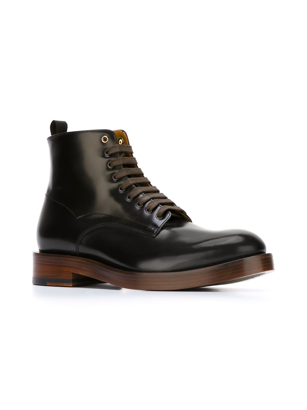 Lyst Paul Smith Lace Up Boots In Gray For Men
