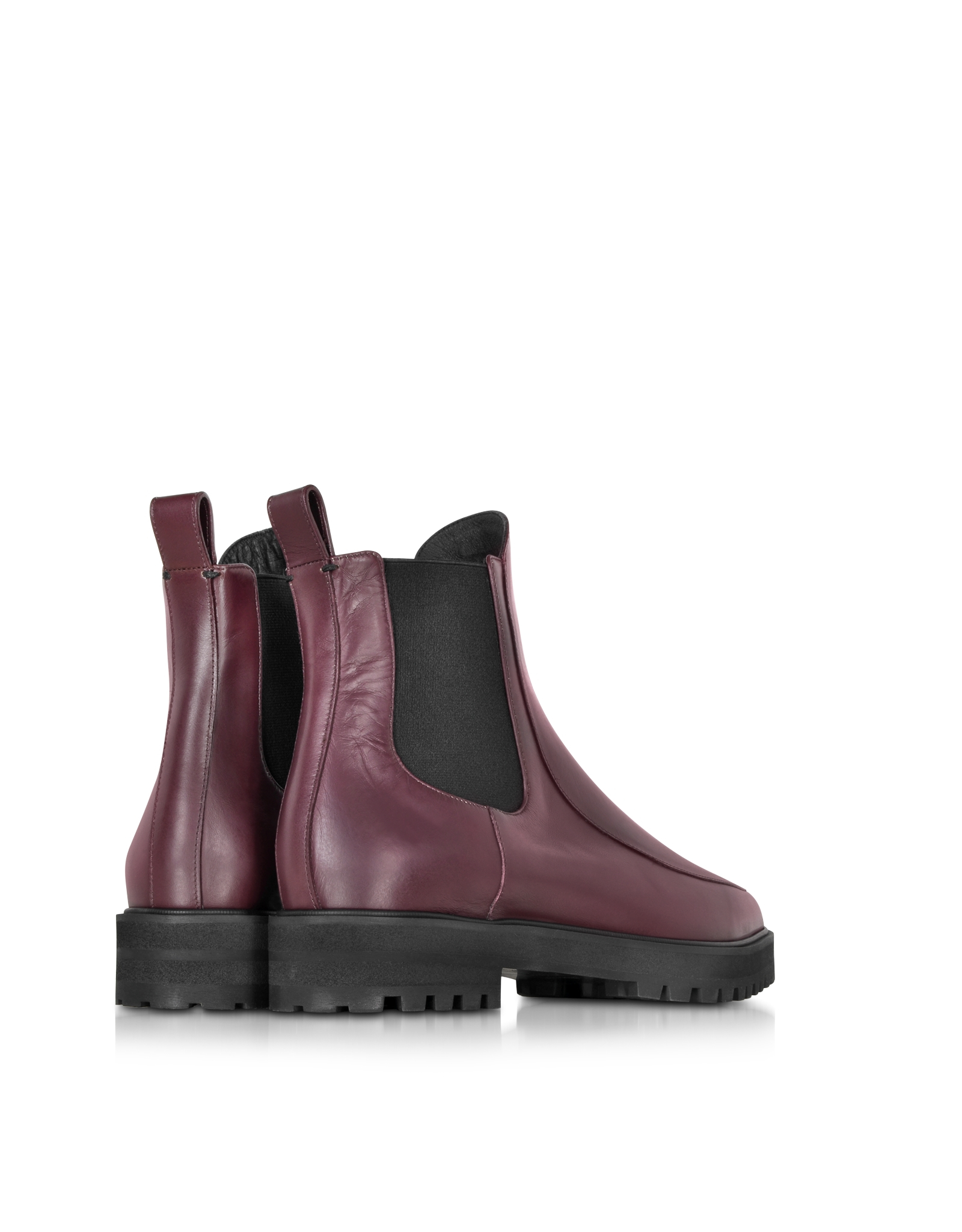 proenza schouler bordeaux leather ankle boot in purple lyst. Black Bedroom Furniture Sets. Home Design Ideas