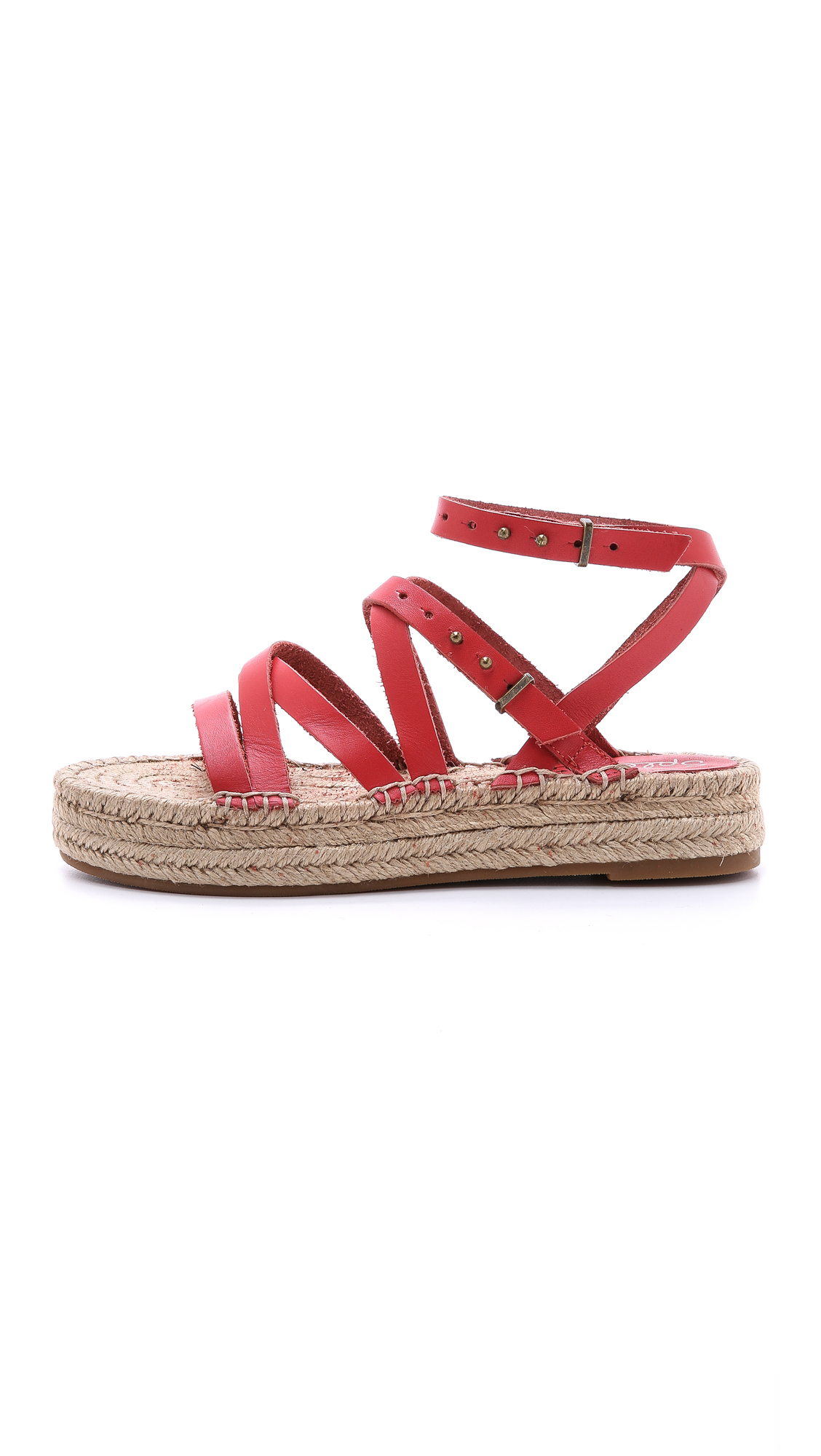 Lyst Splendid Erin Double Espadrille Sandals Red In Red