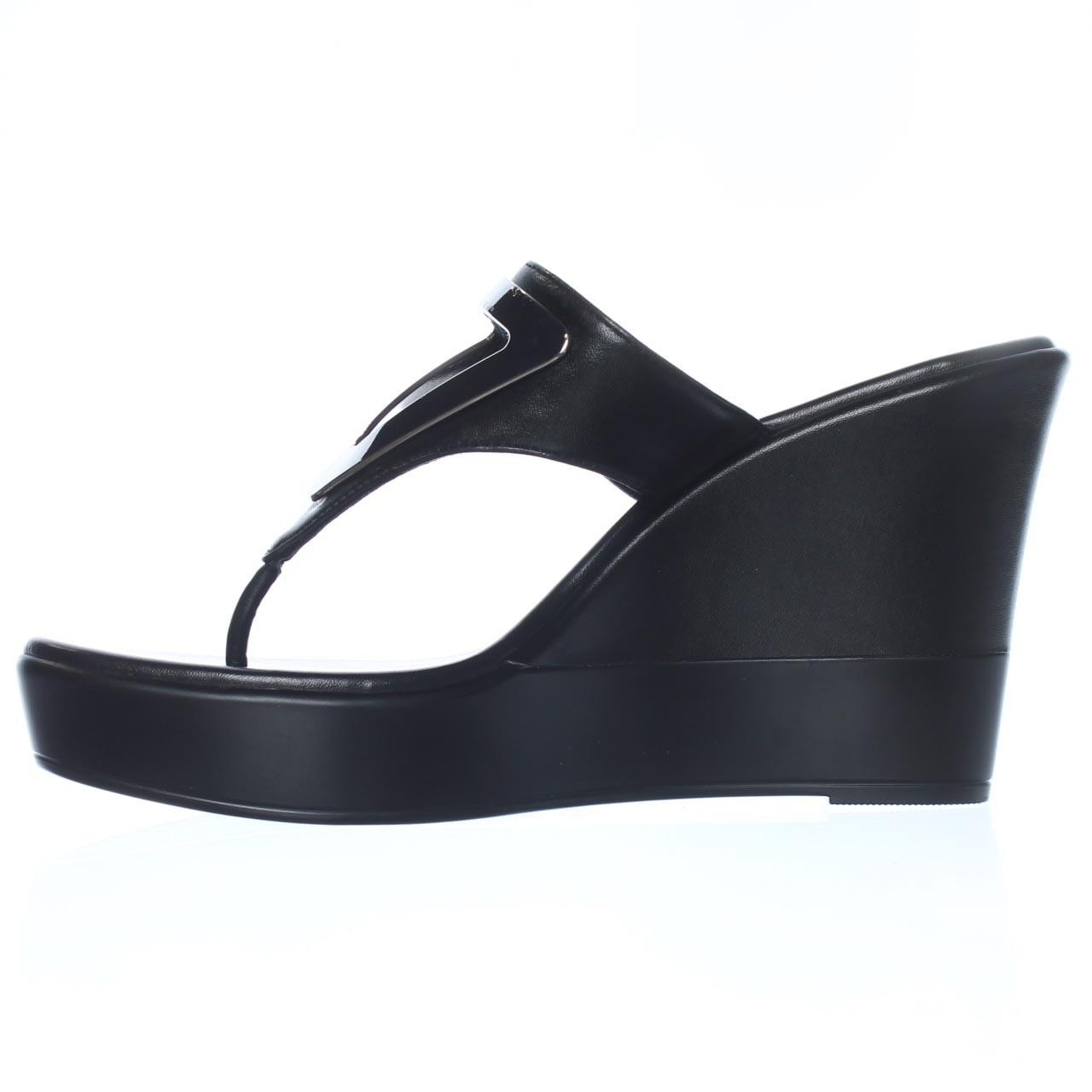 Bcbgeneration Synthetic Quiz Wedge Sandals In Black Lyst